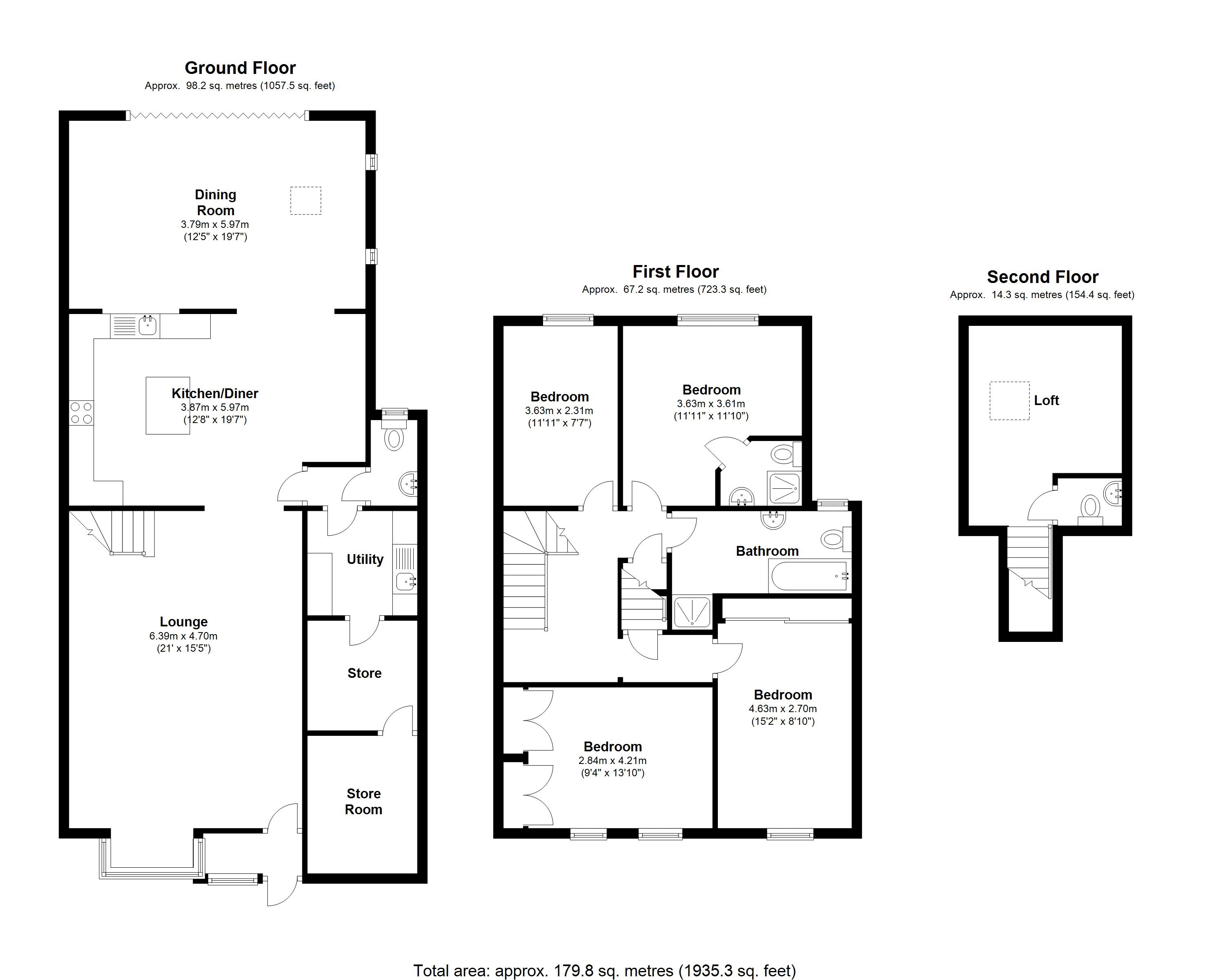 Floorplan for Kenilworth Road, Balsall Common