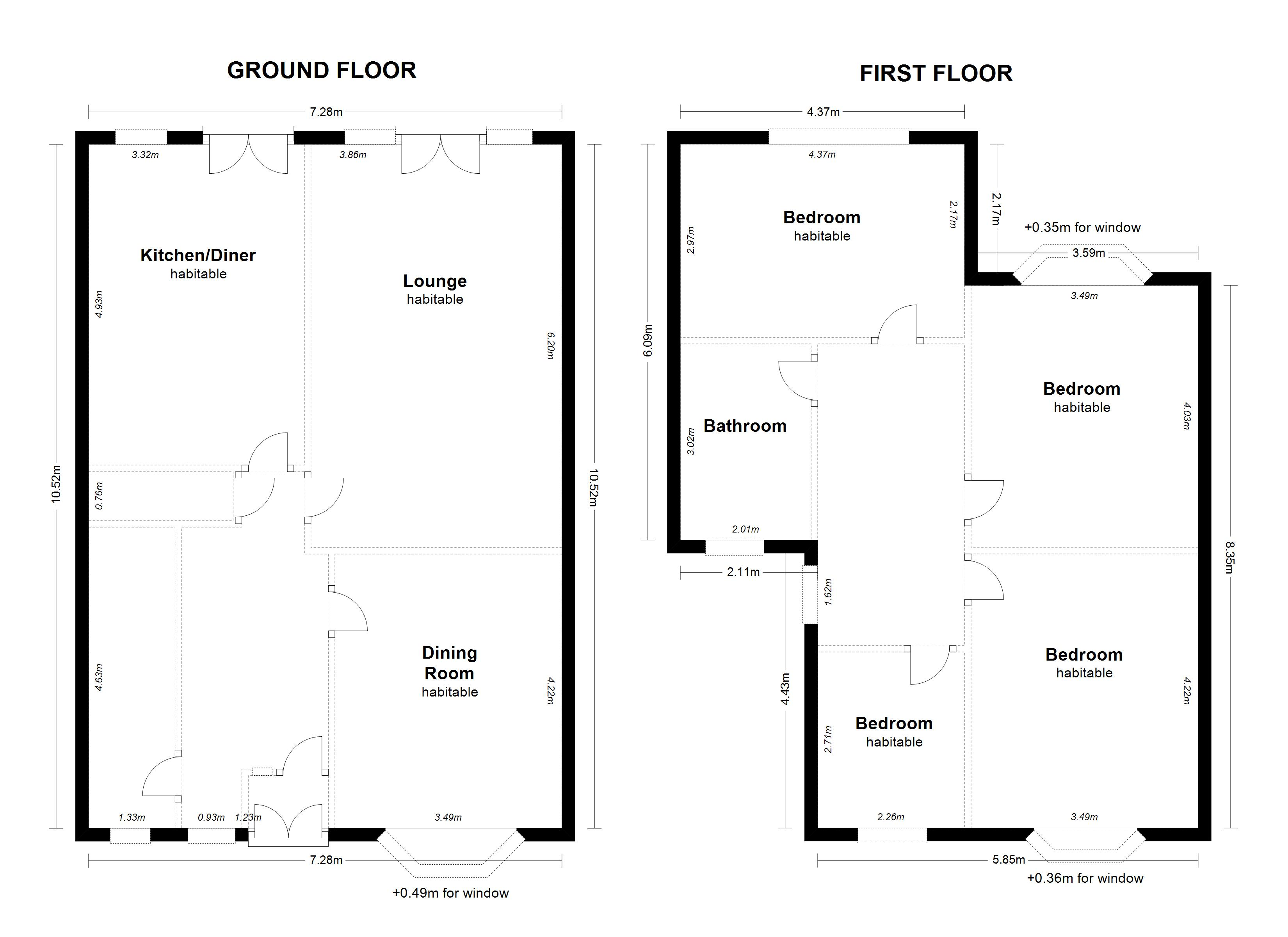 Floorplan for Bourton Road, Solihull