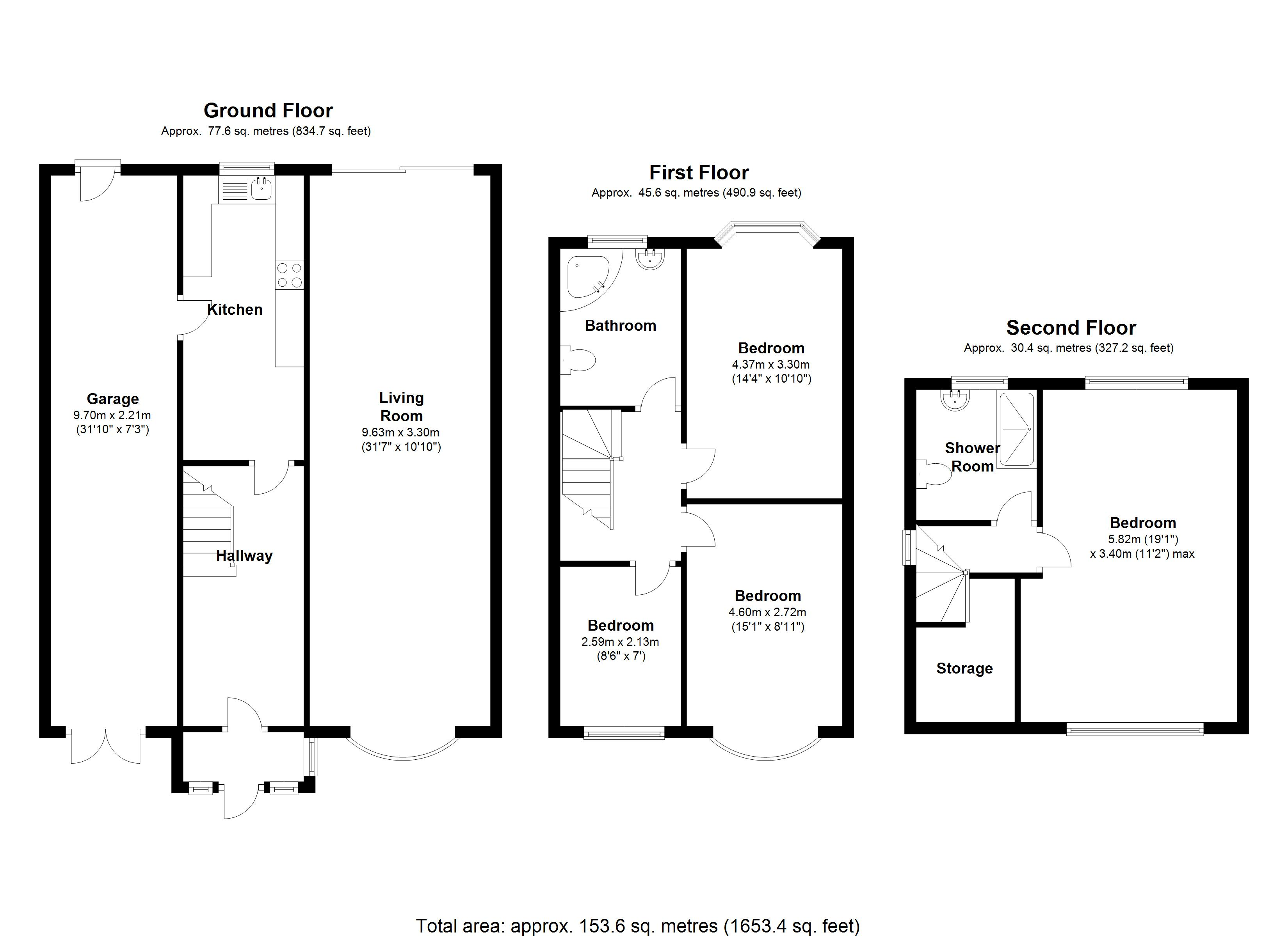 Floorplan for Keswick Road, Solihull