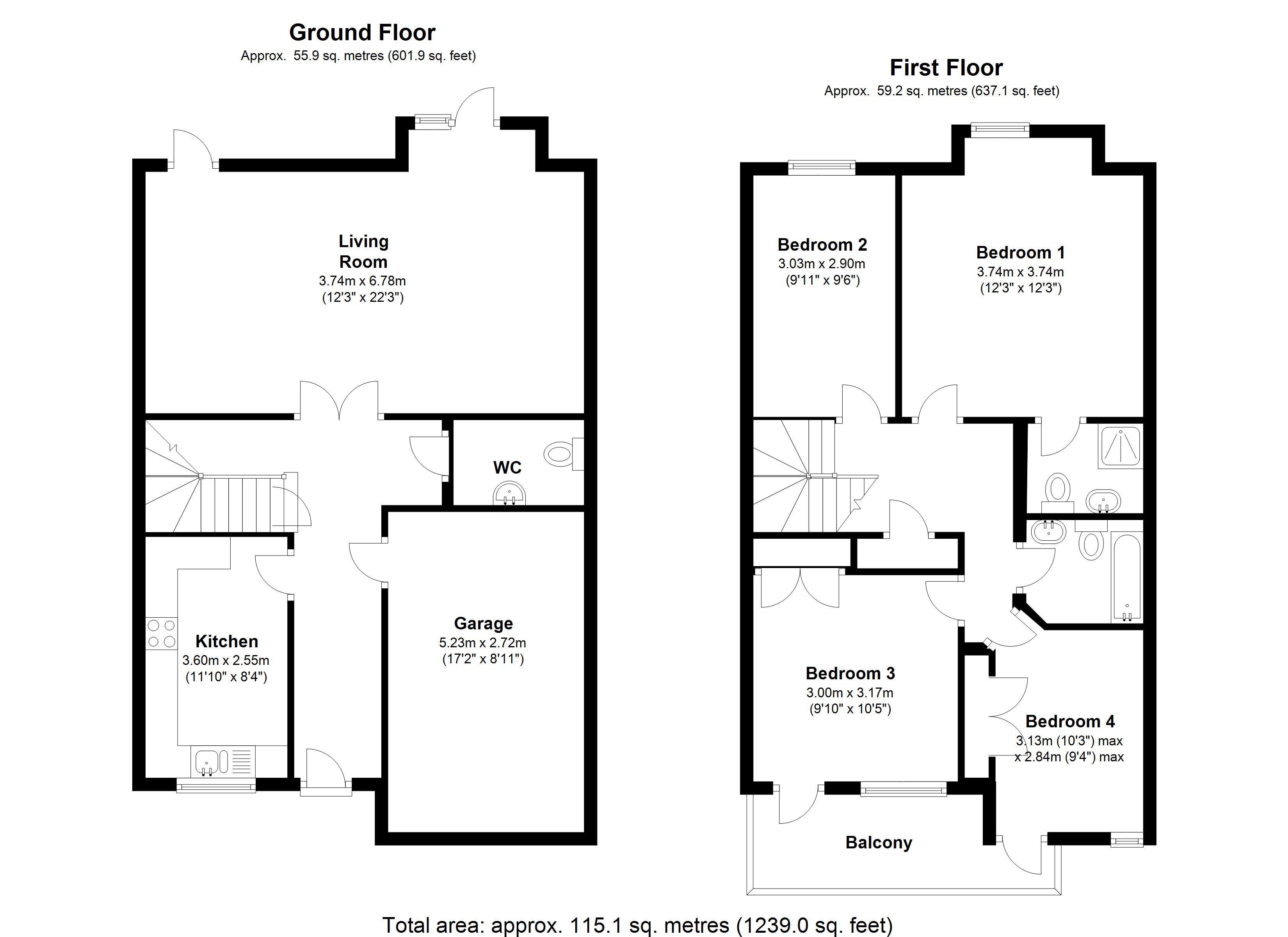 Floorplan for Woodshires Road, Solihull