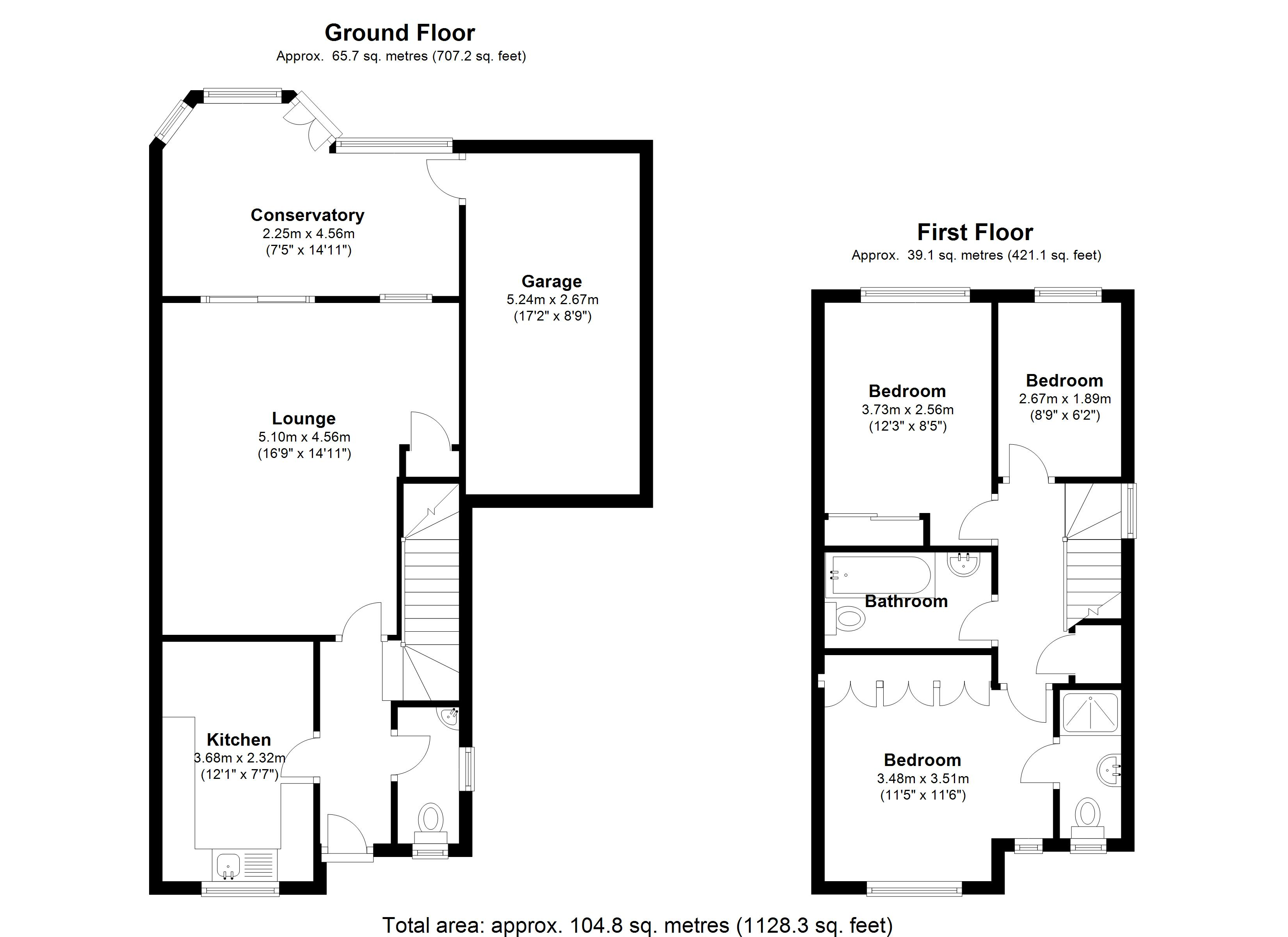 Floorplan for St. Francis Avenue, Solihull