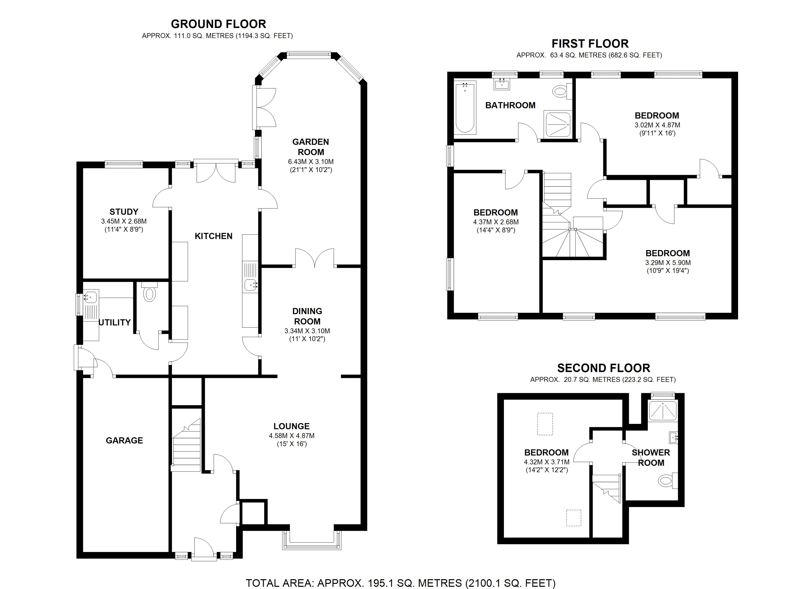 Floorplan for Southfields Road, Solihull