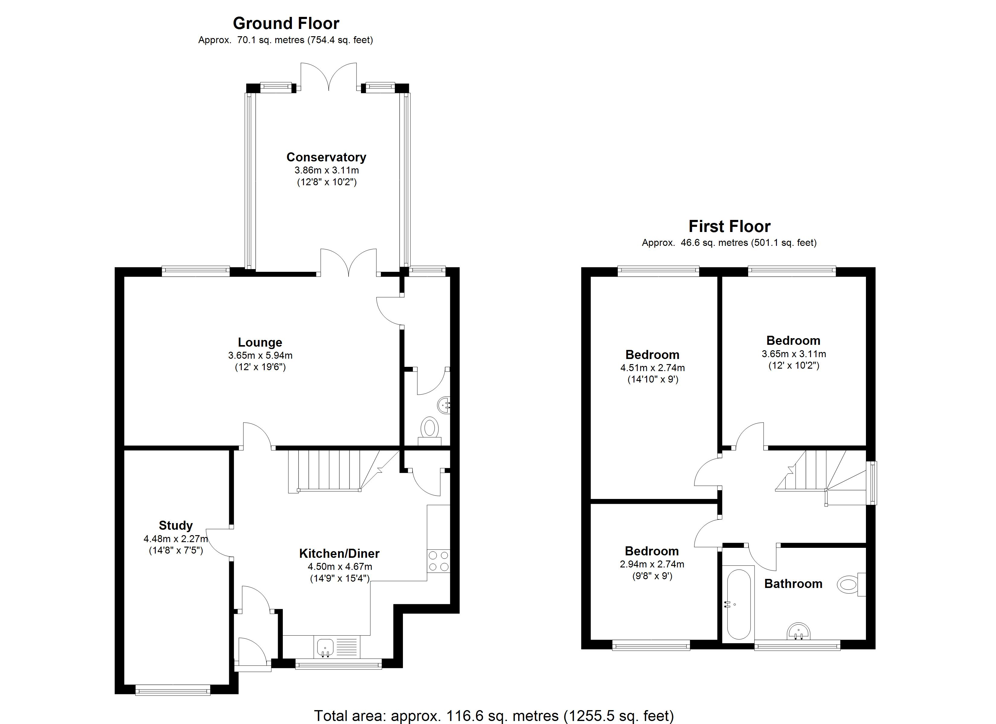 Floorplan for Kingswood Close, Solihull