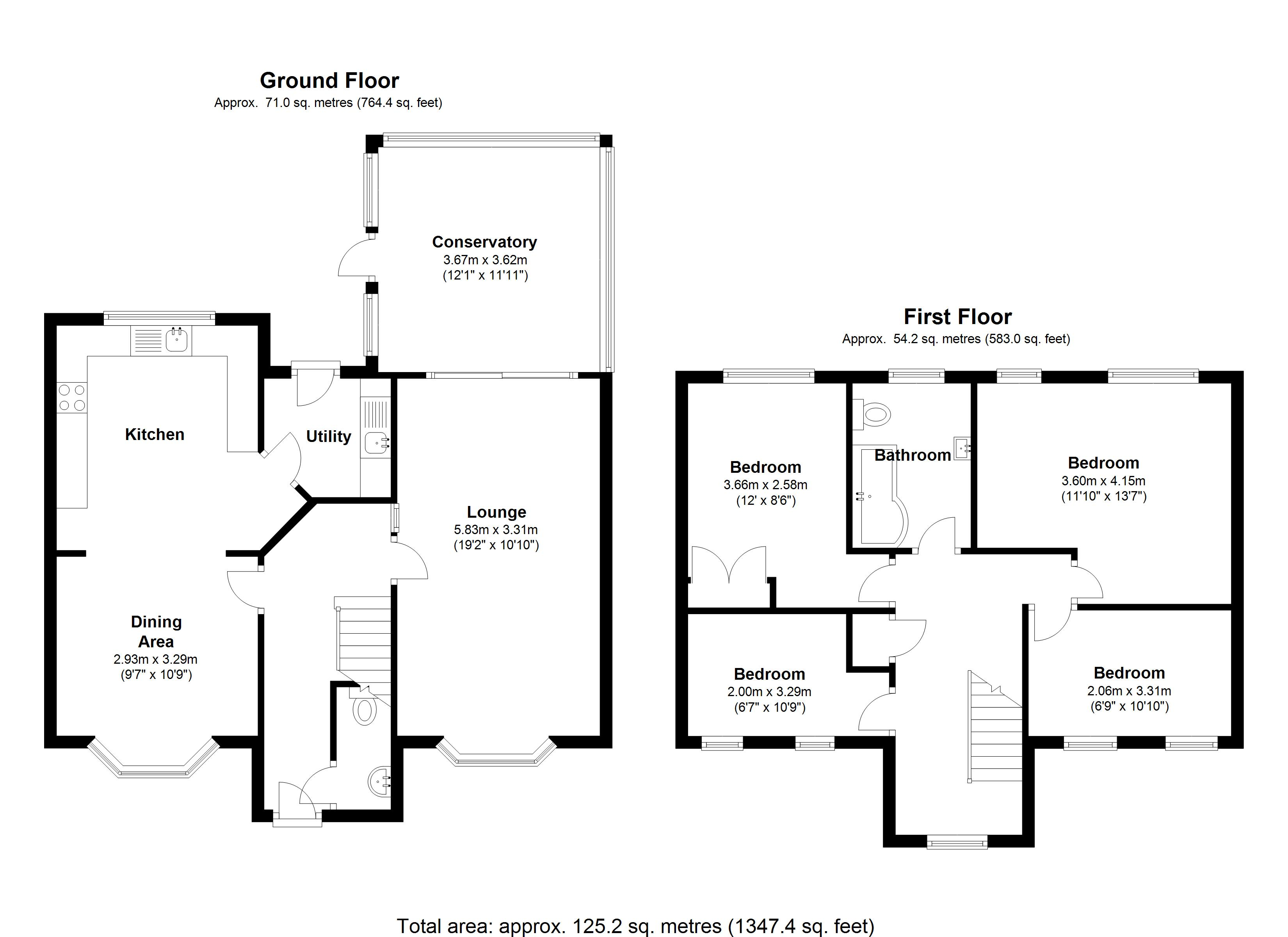 Floorplan for Hollyhurst Grove, Solihull
