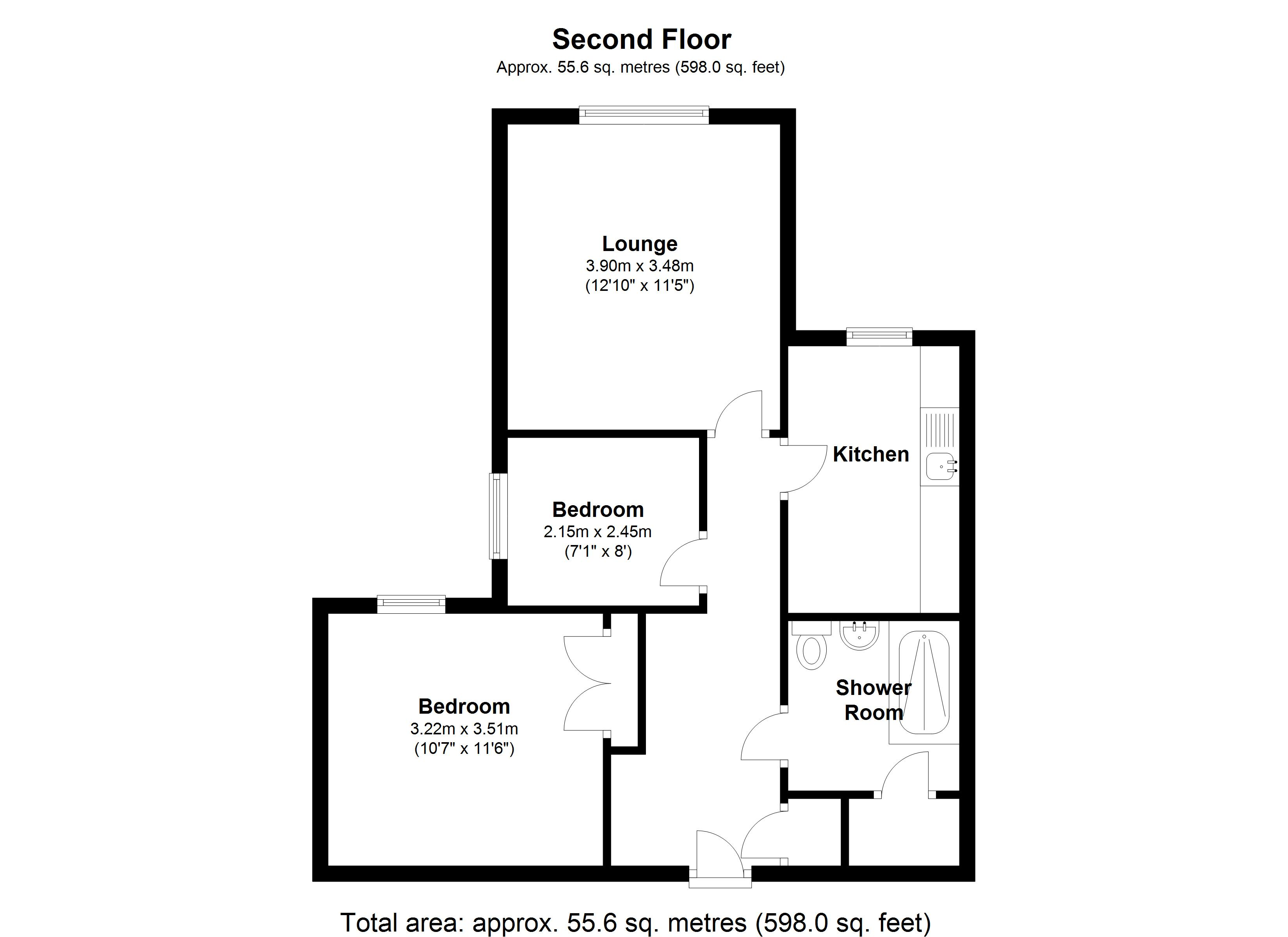 Floorplan for Fernleigh Court, Solihull
