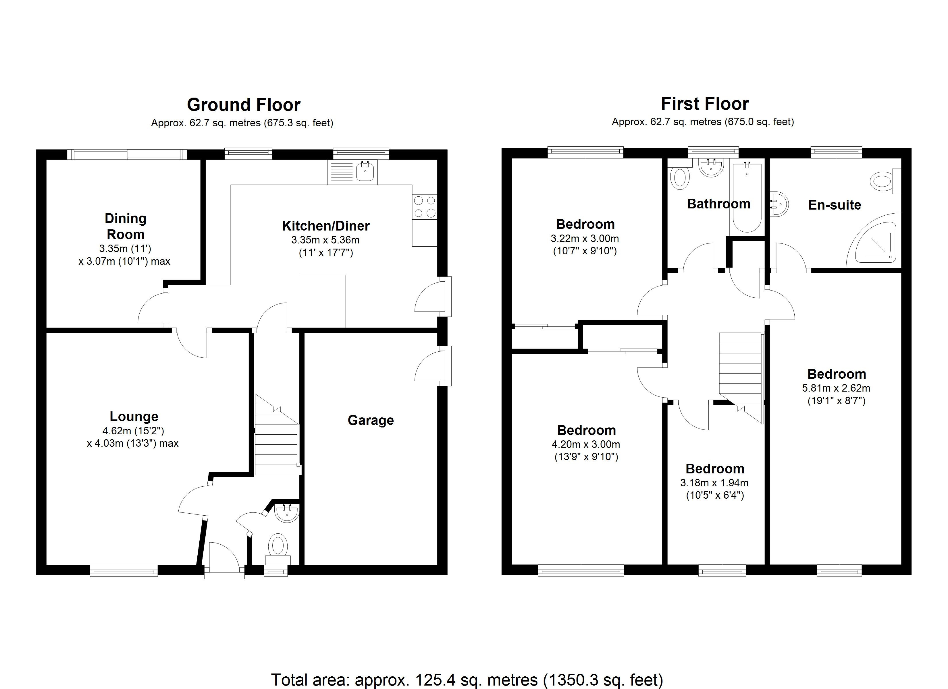 Floorplan for Chattaway Drive, Coventry