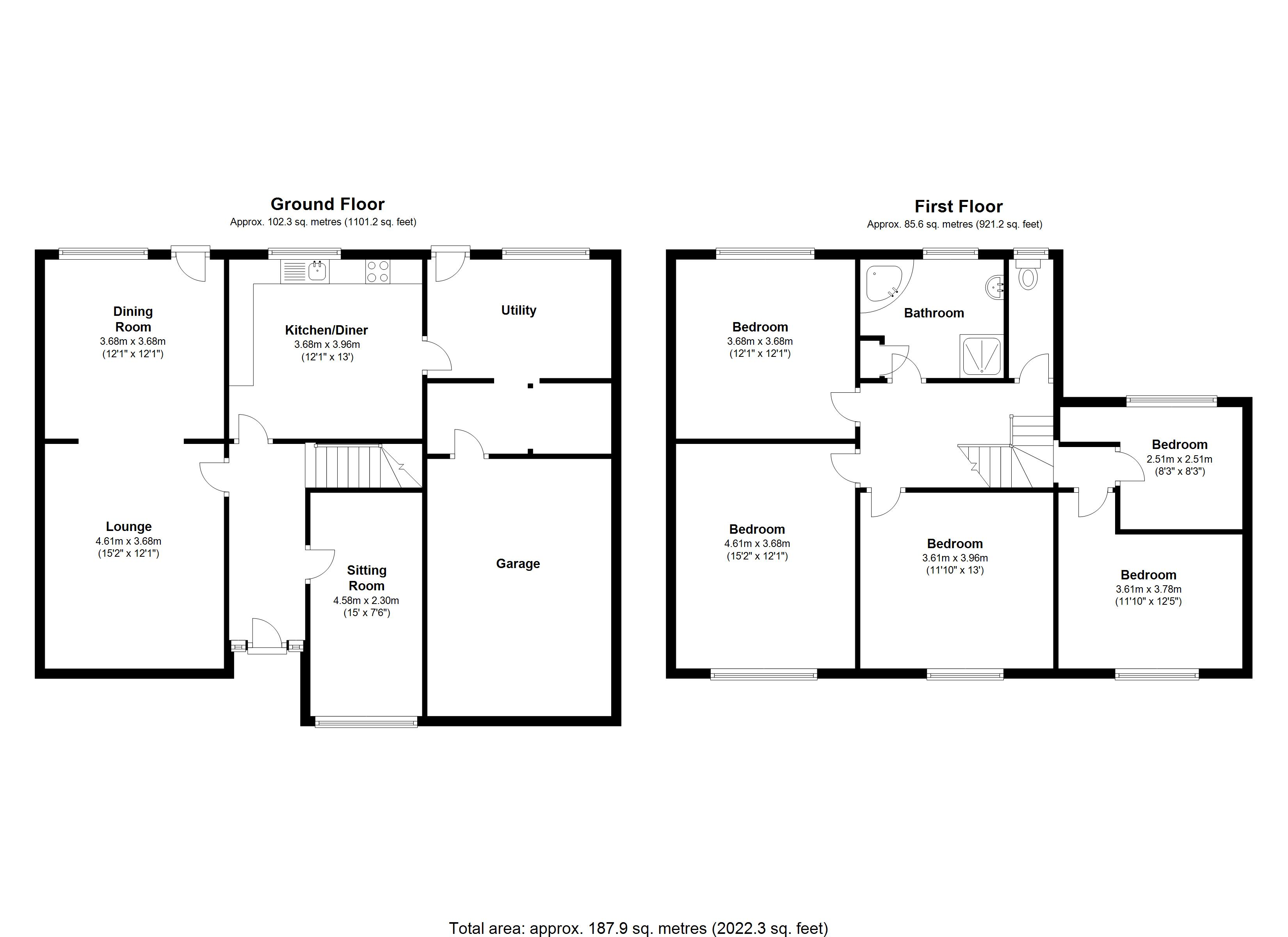 Floorplan for Leveson Crescent, Coventry