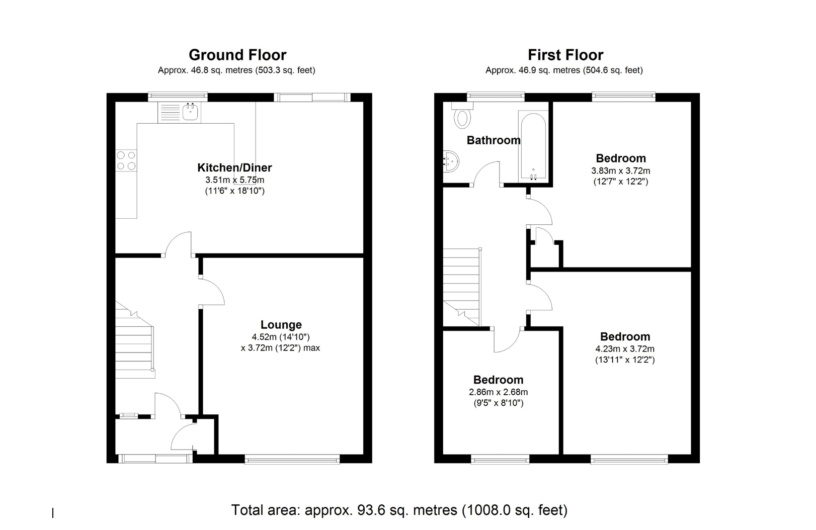 Floorplan for Castle Lane, Solihull