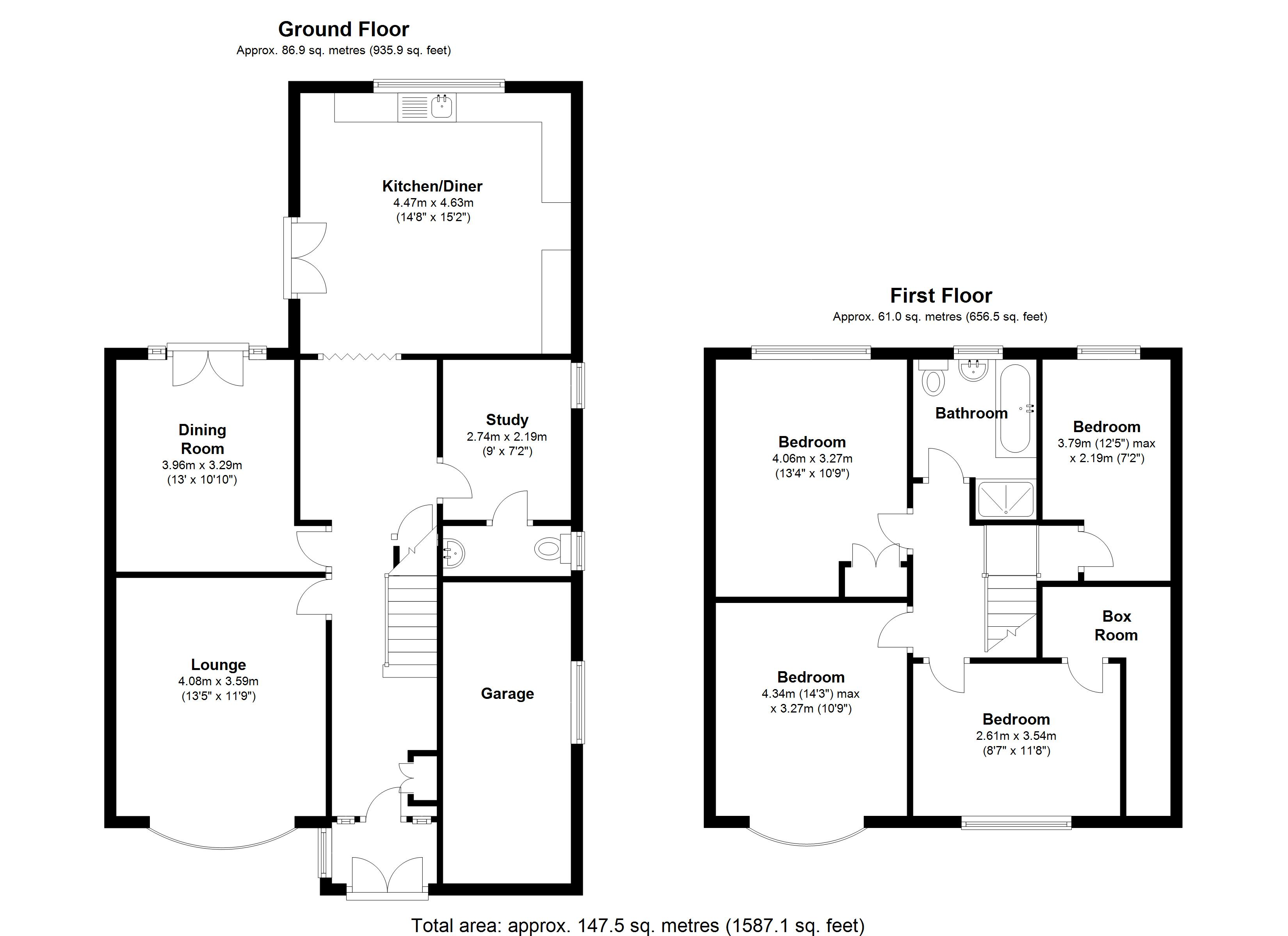 Floorplan for Lyndon Road, Solihull