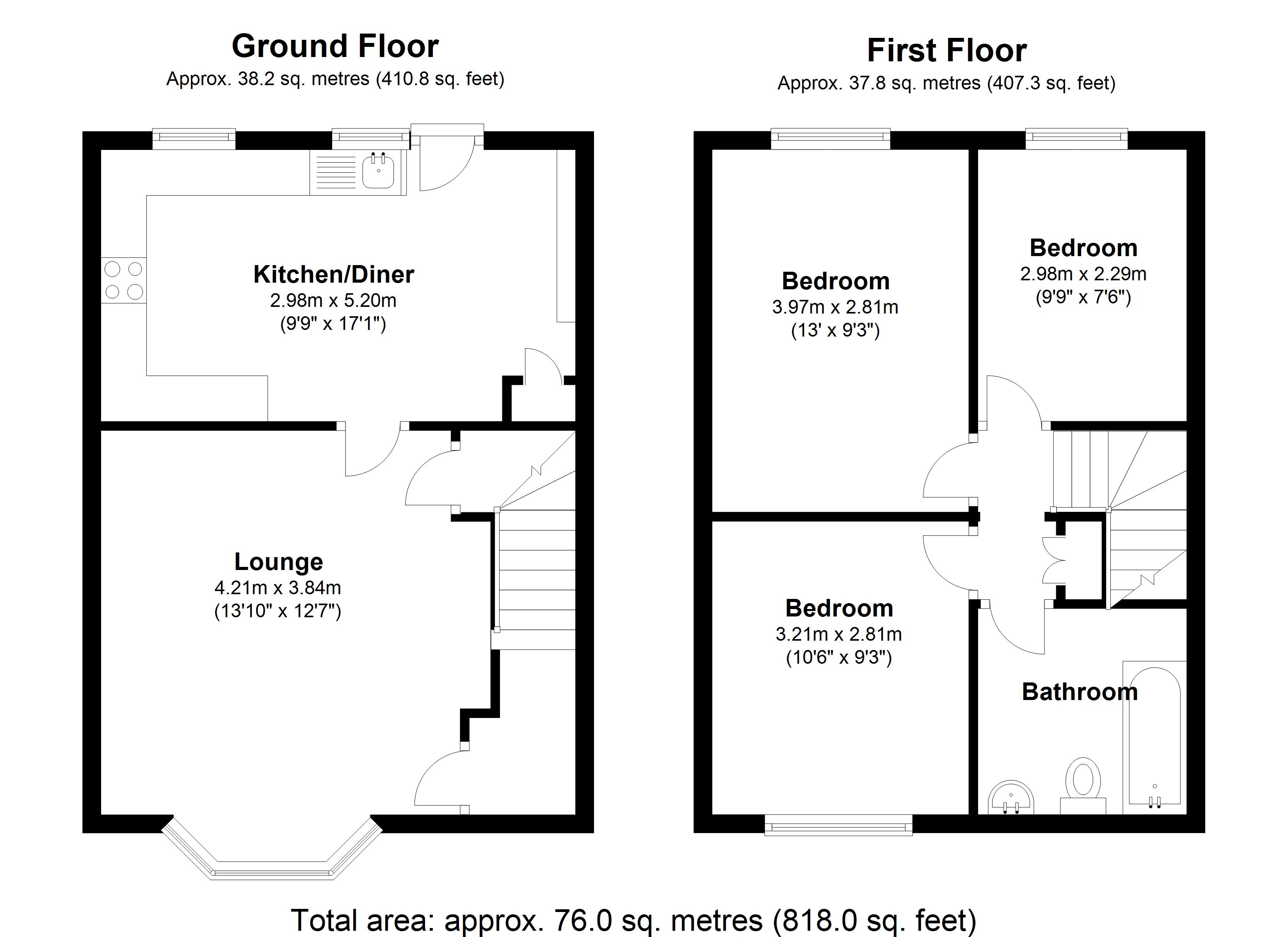 Floorplan for Arlington Road, Birmingham