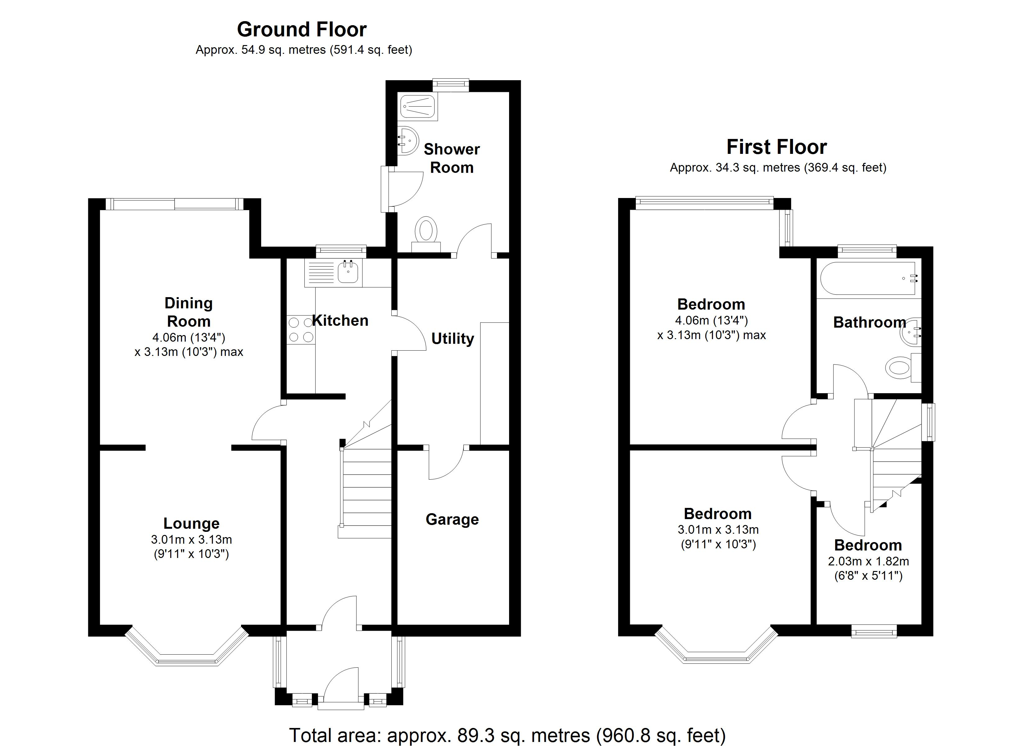 Floorplan for Irving Road, Solihull