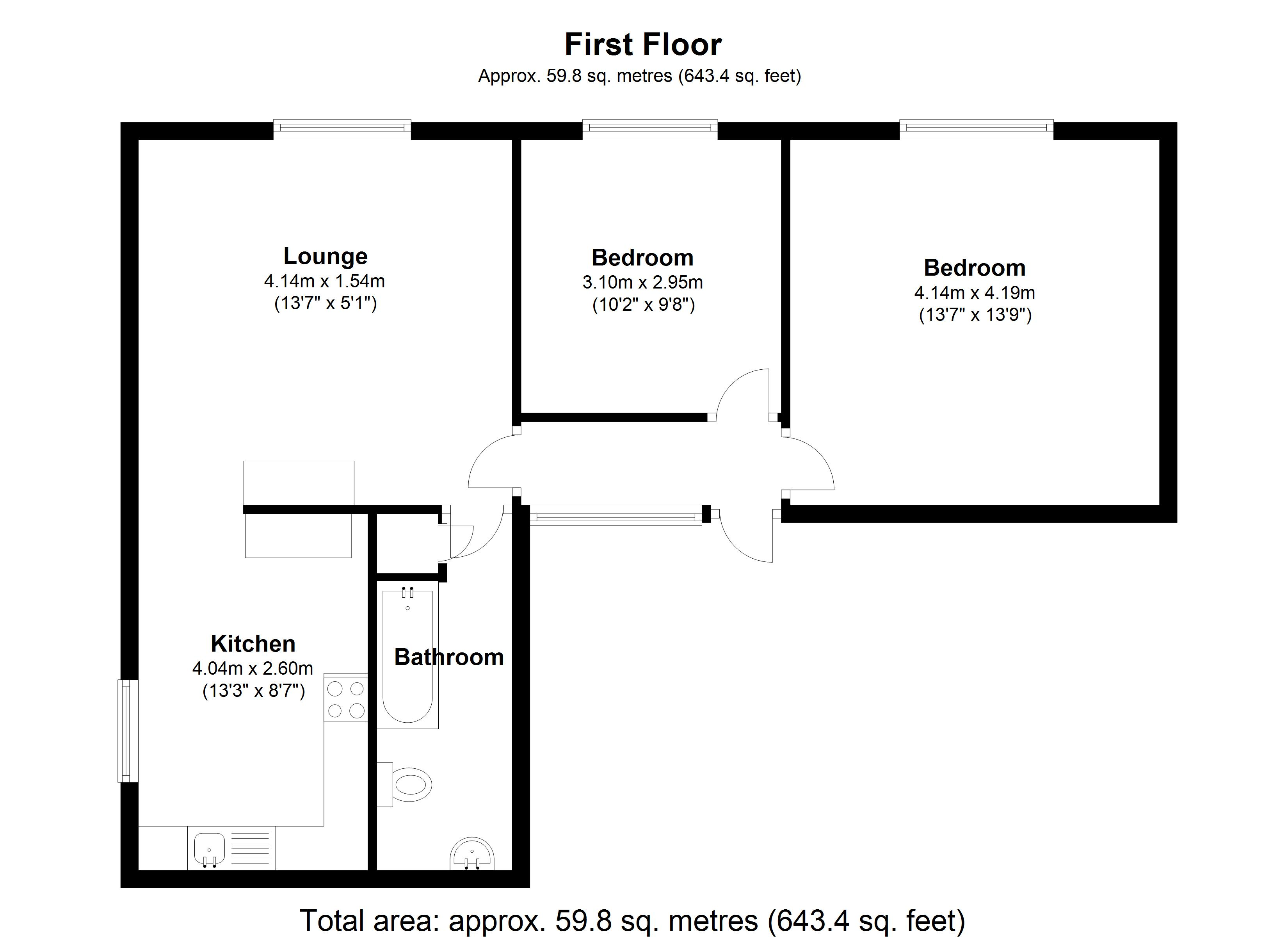 Floorplan for Kent House, Coventry