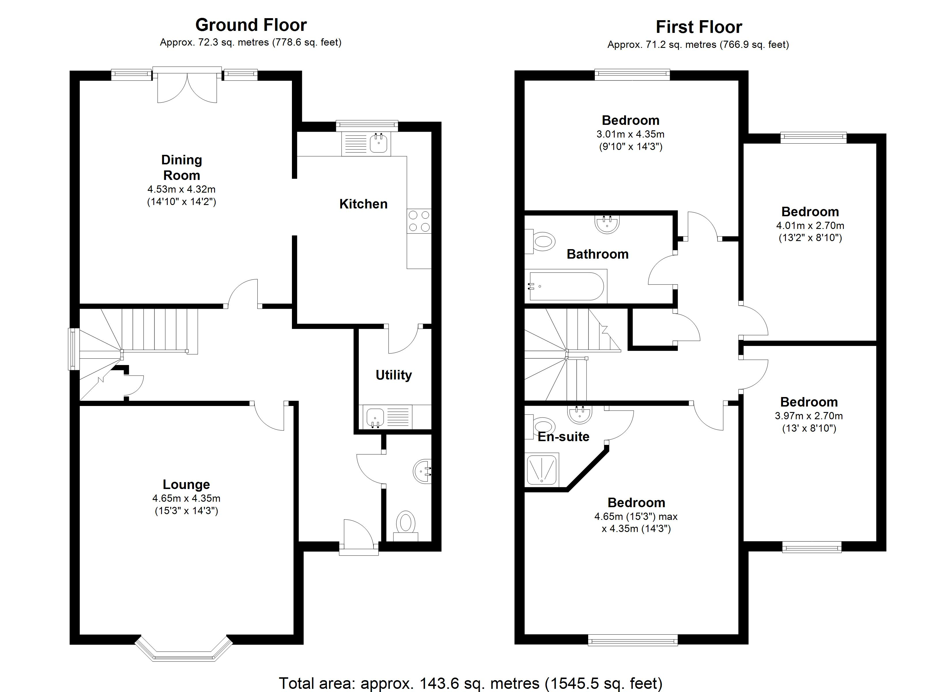 Floorplan for Malthouse Meadow, Solihull
