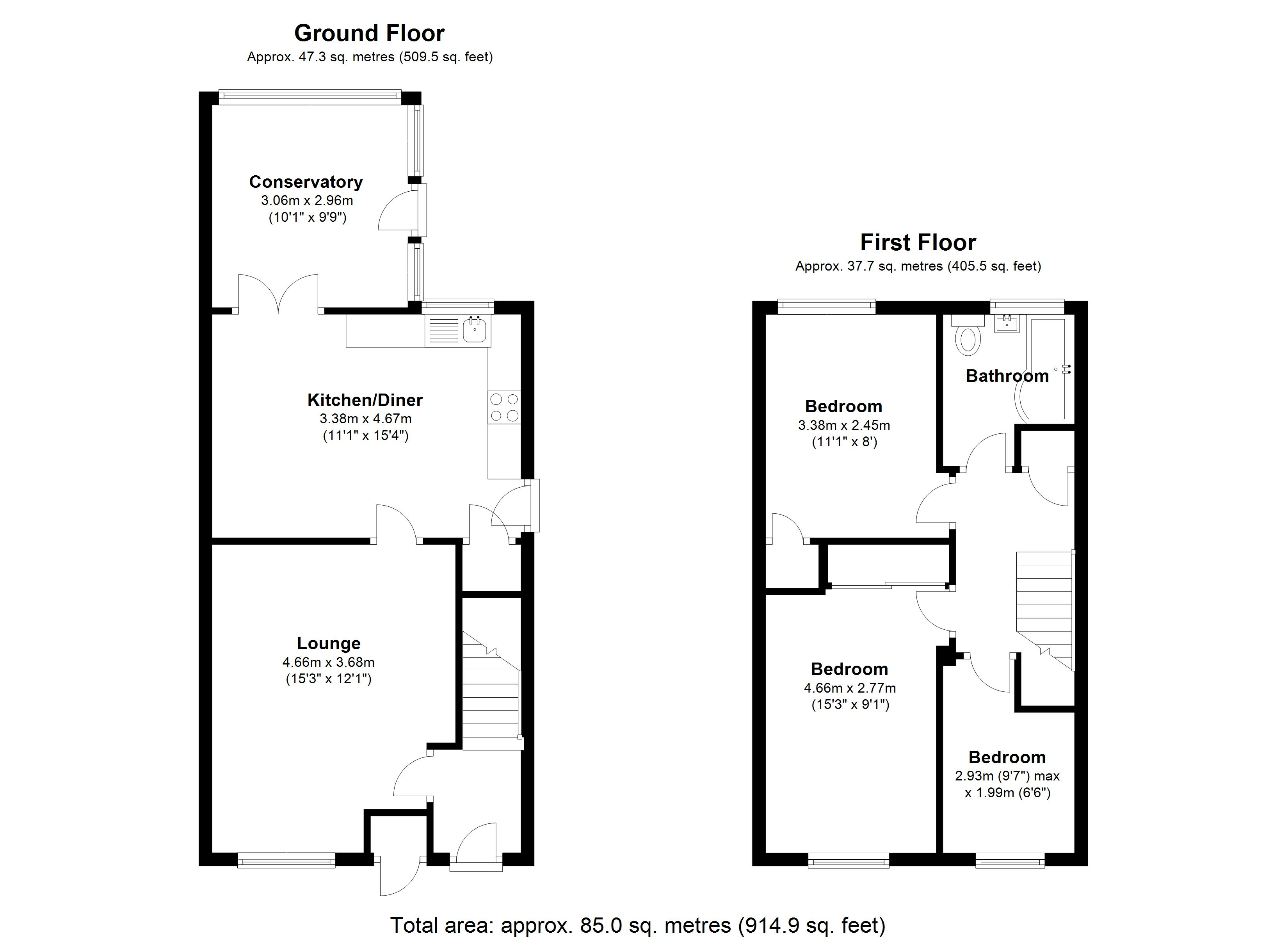 Floorplan for Mitford Drive, Solihull