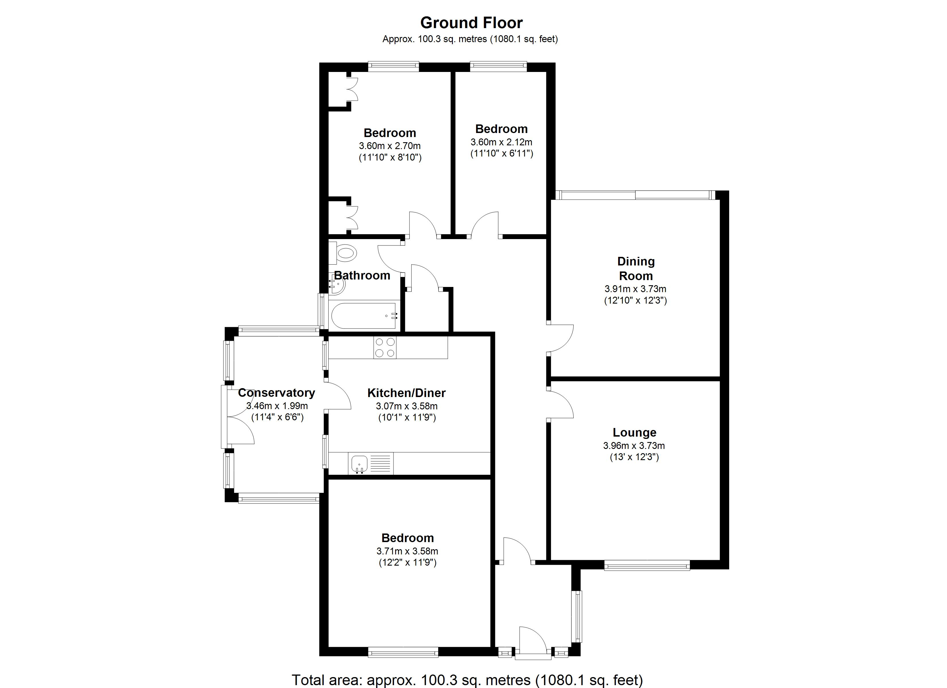 Floorplan for Charingworth Road, Solihull