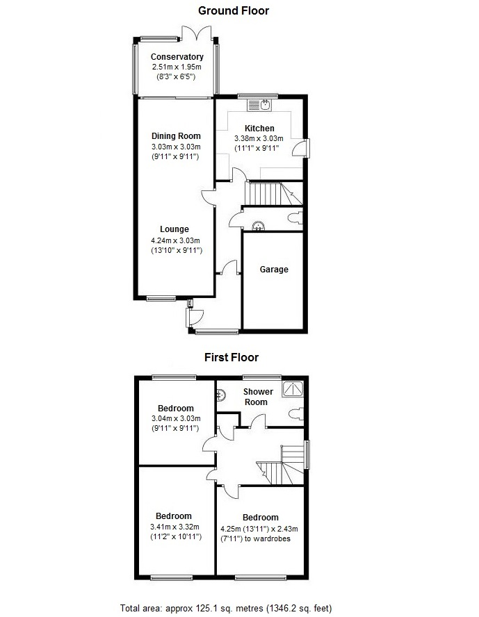Floorplan for Arden Close, Coventry