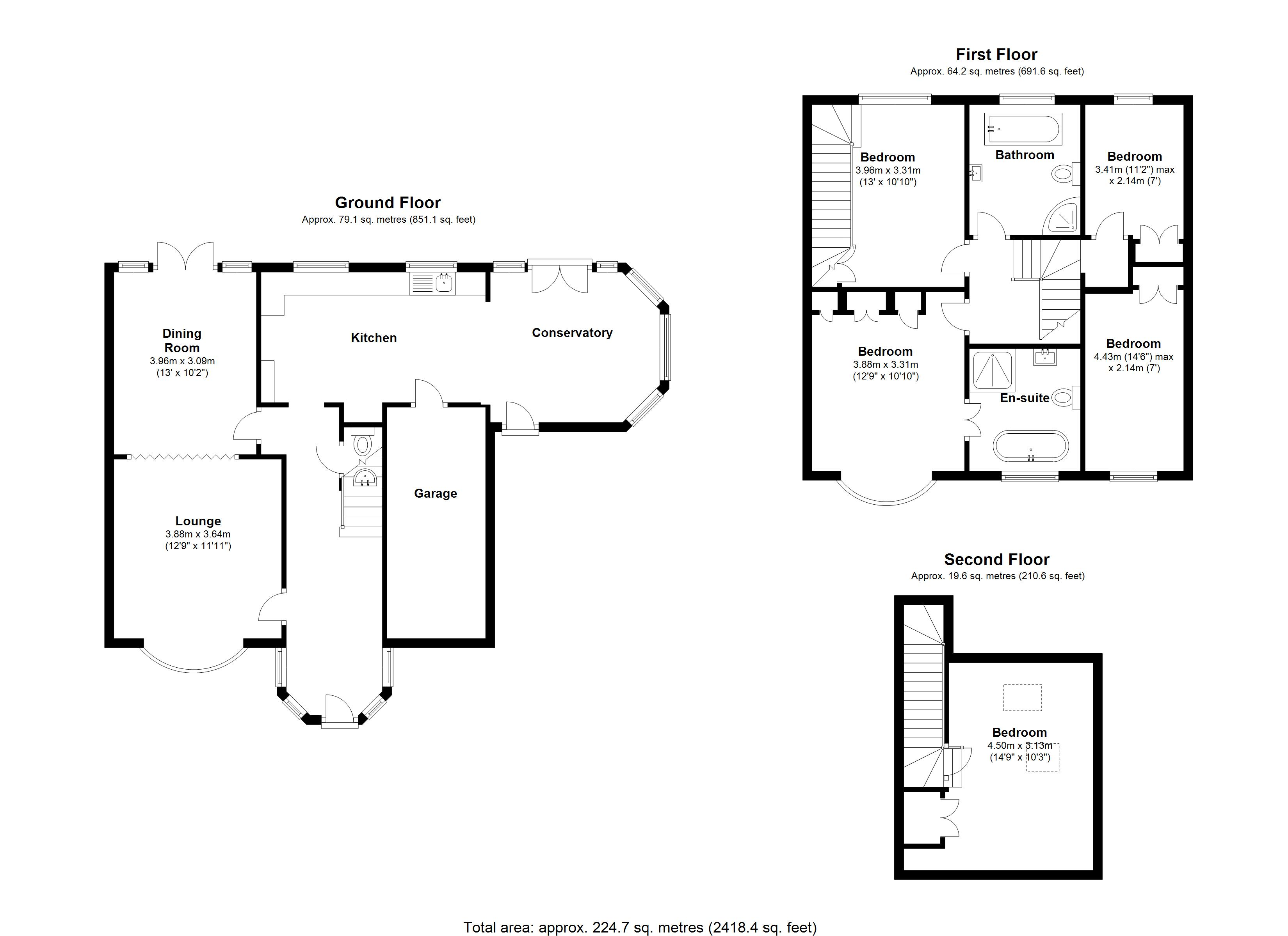 Floorplan for Wellington Grove, Solihull