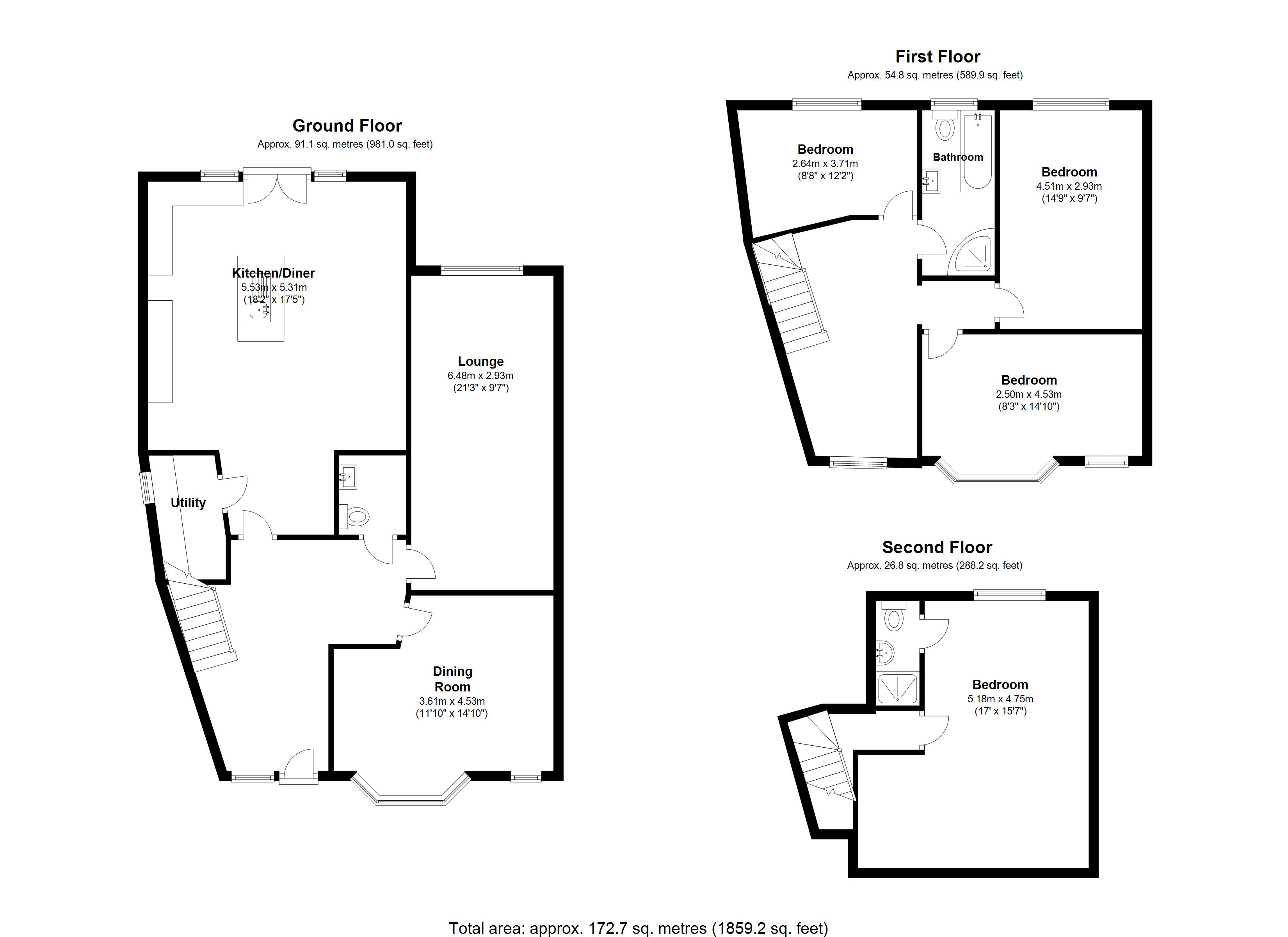Floorplan for Hermitage Road, Solihull