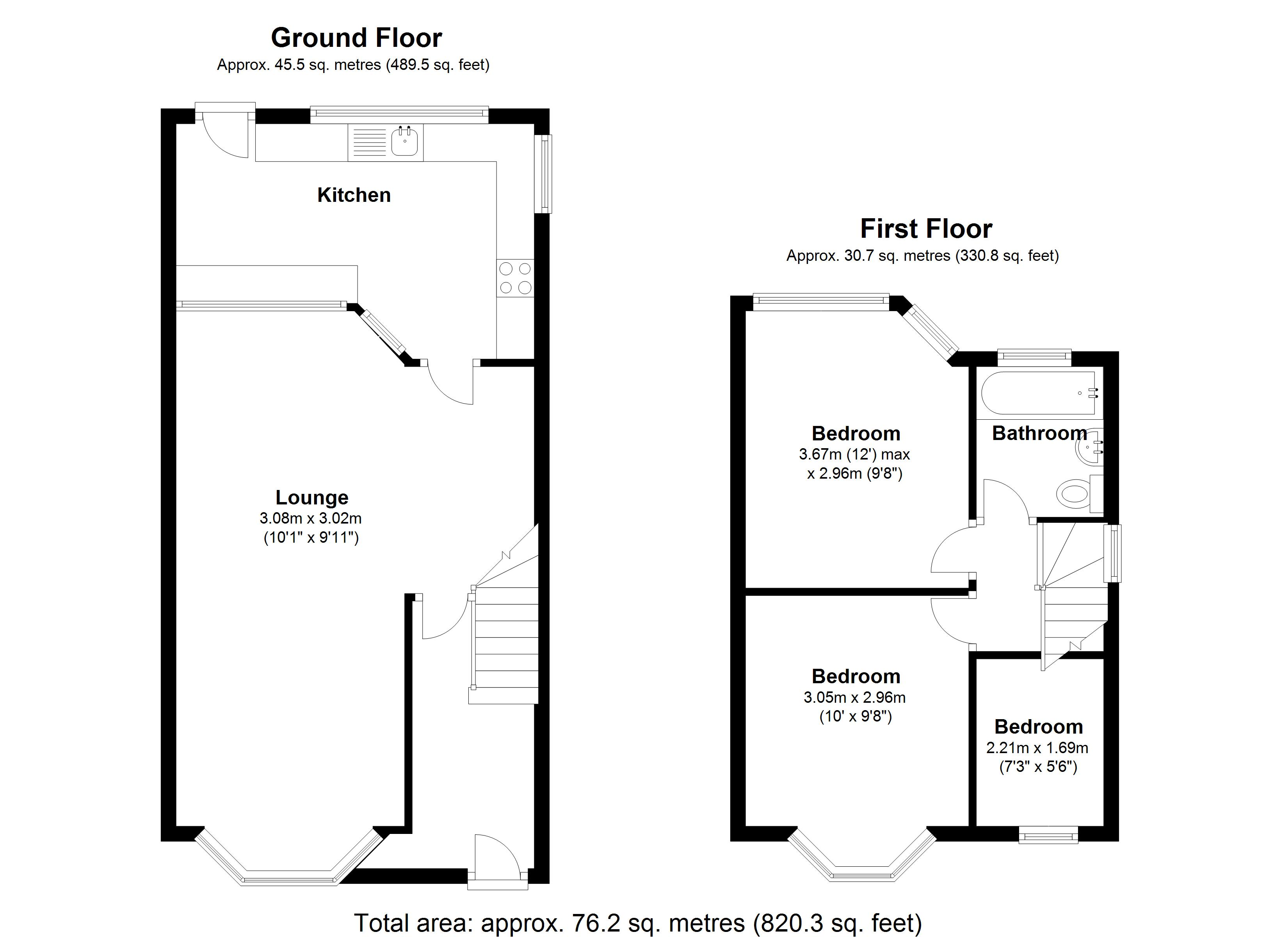 Floorplan for Aldershaw Road, Birmingham