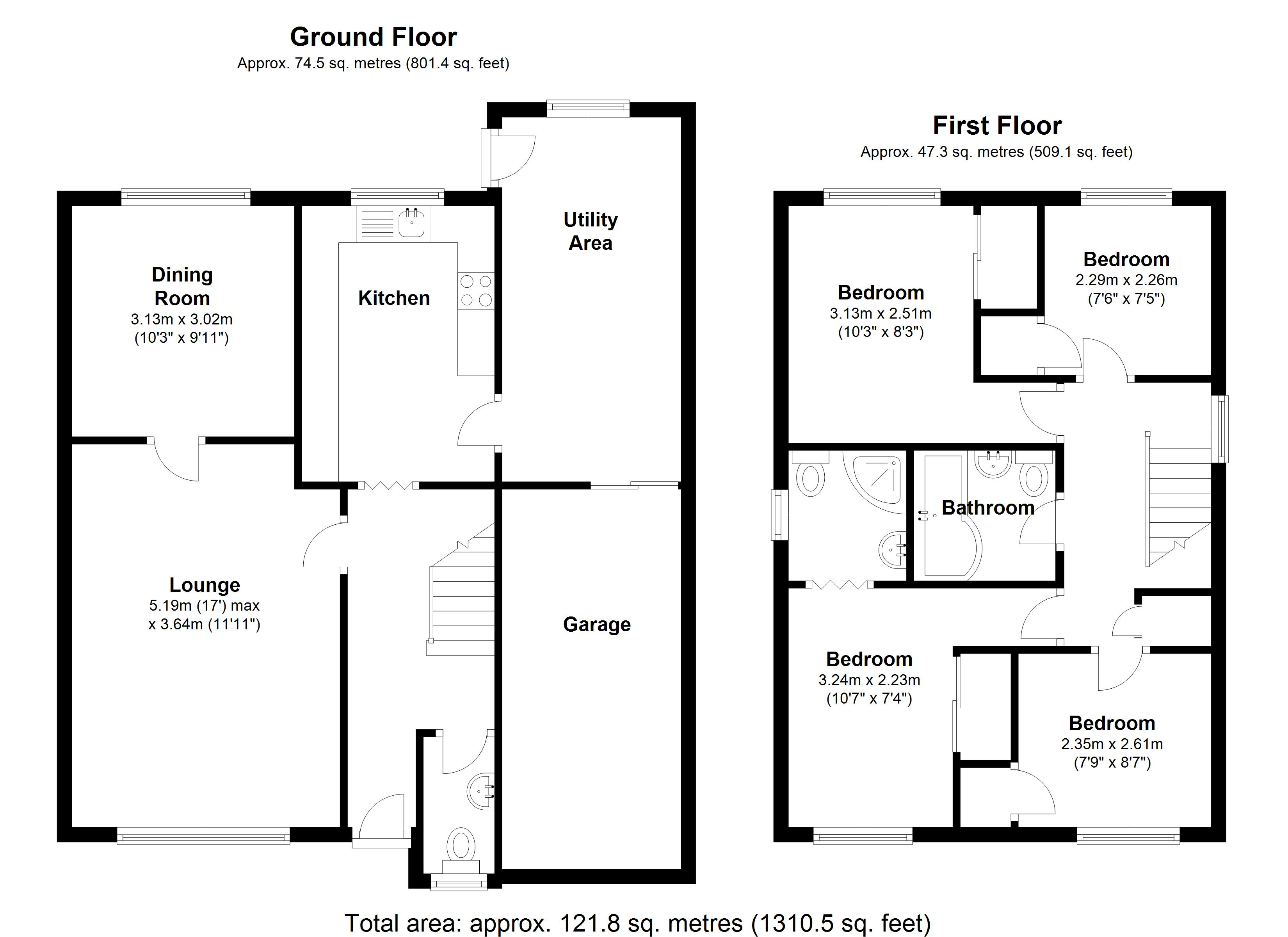 Floorplan for Sandhills Crescent, Solihull