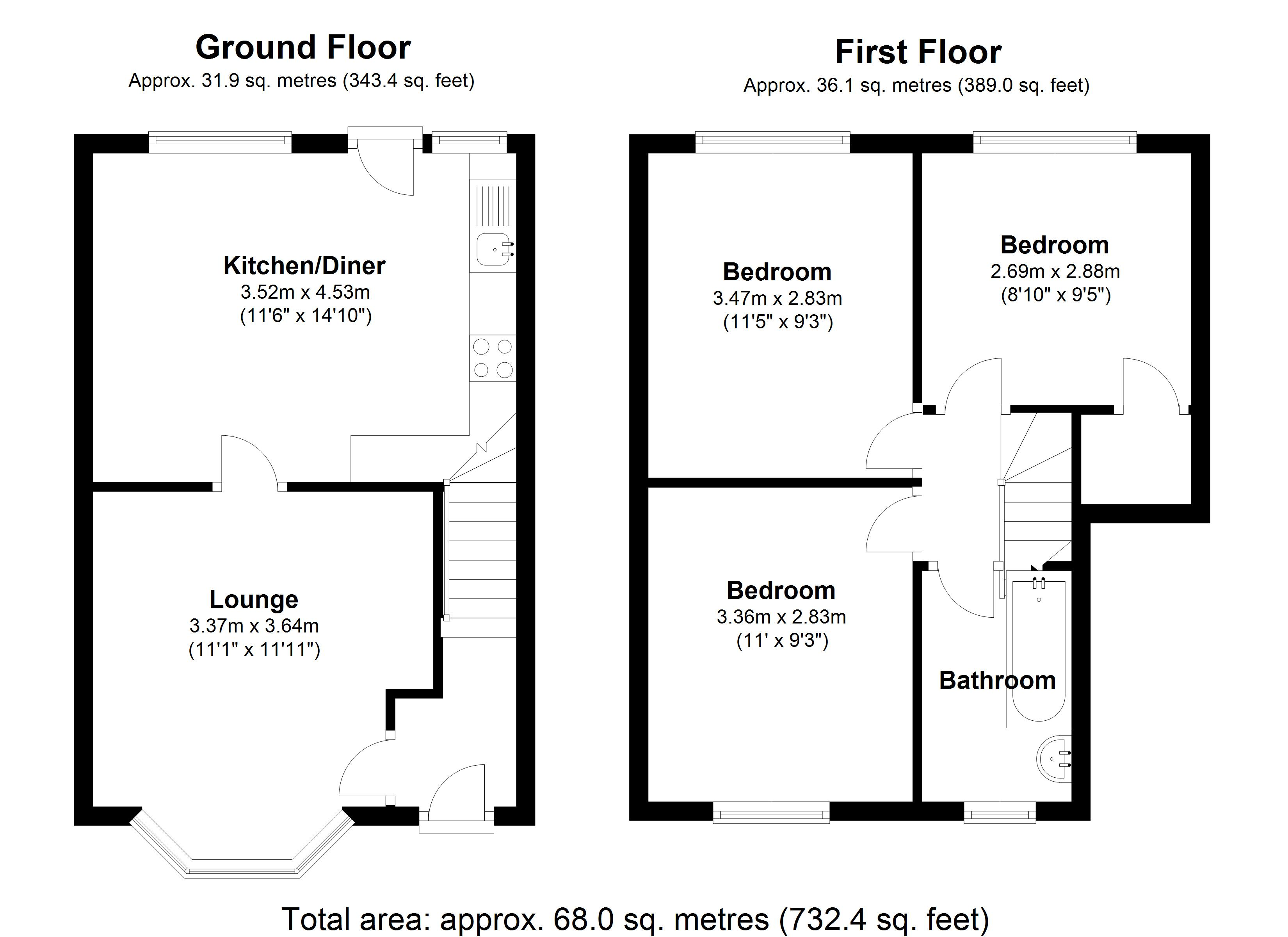 Floorplan for Glencroft Road, Solihull