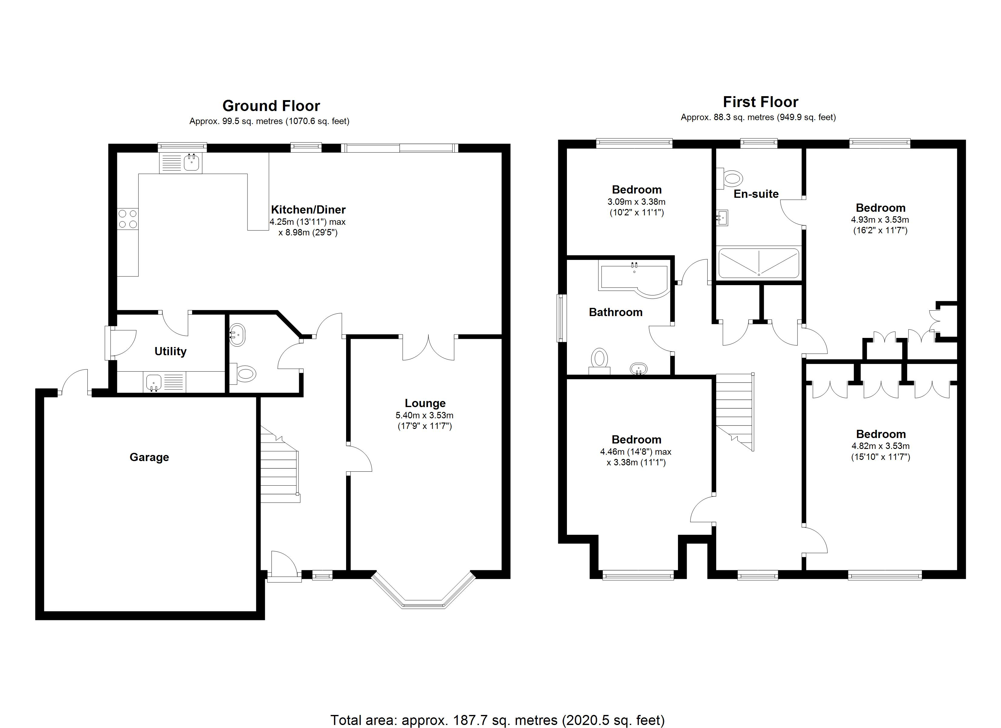 Floorplan for Grovefield Crescent, Coventry