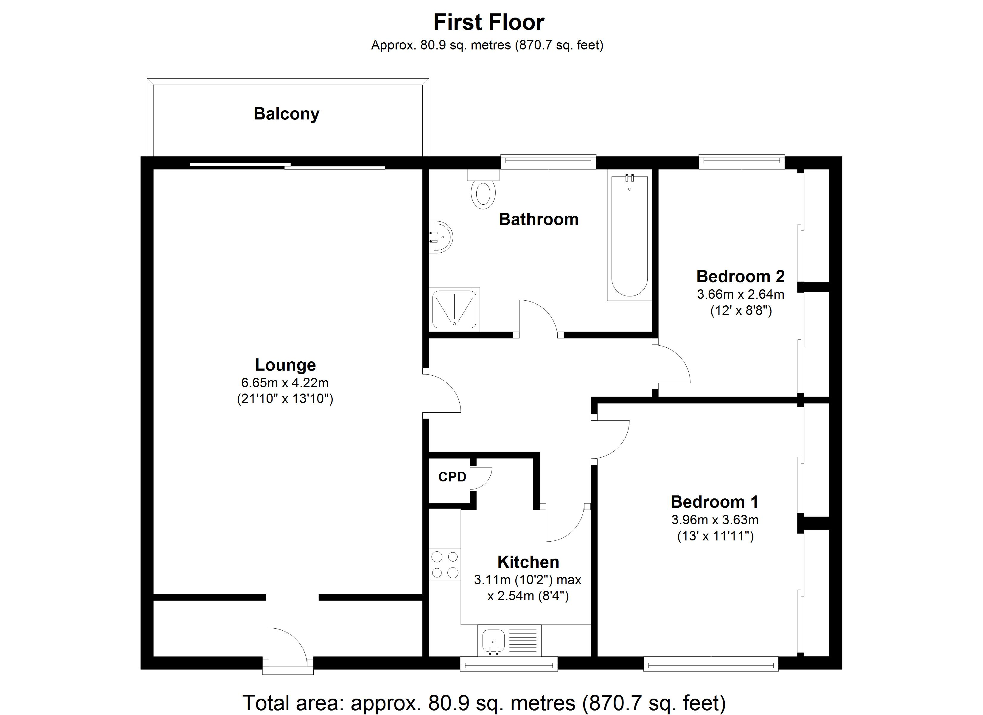 Floorplan for Quintondale, Solihull
