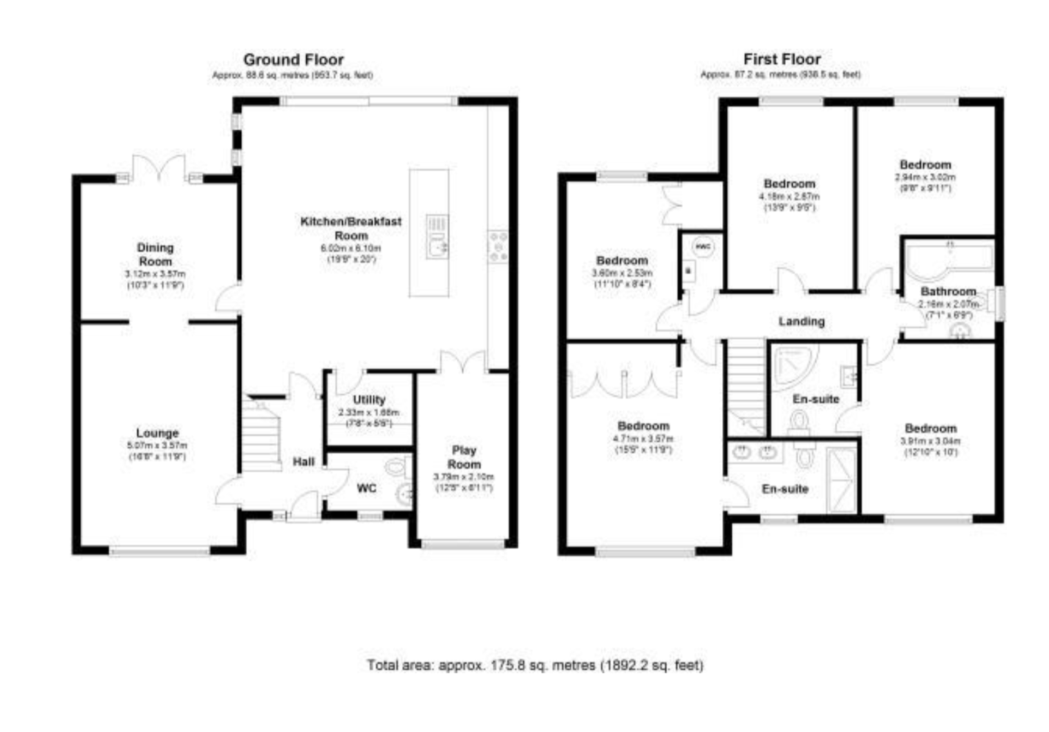 Floorplan for Rowthorn Drive, Solihull