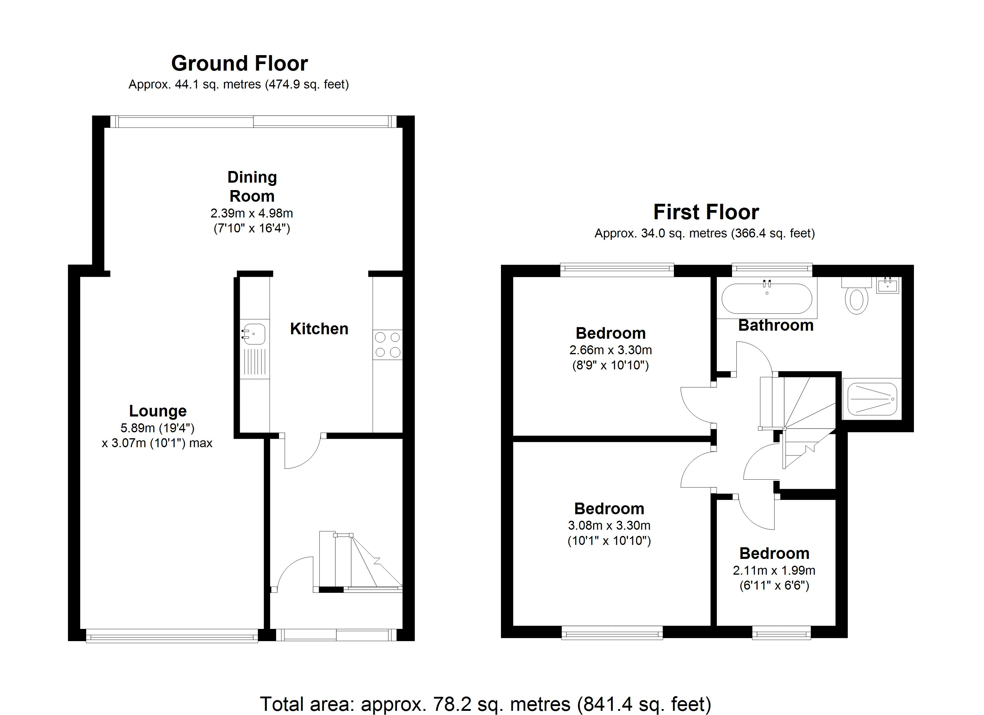 Floorplan for Muswell Close, Solihull