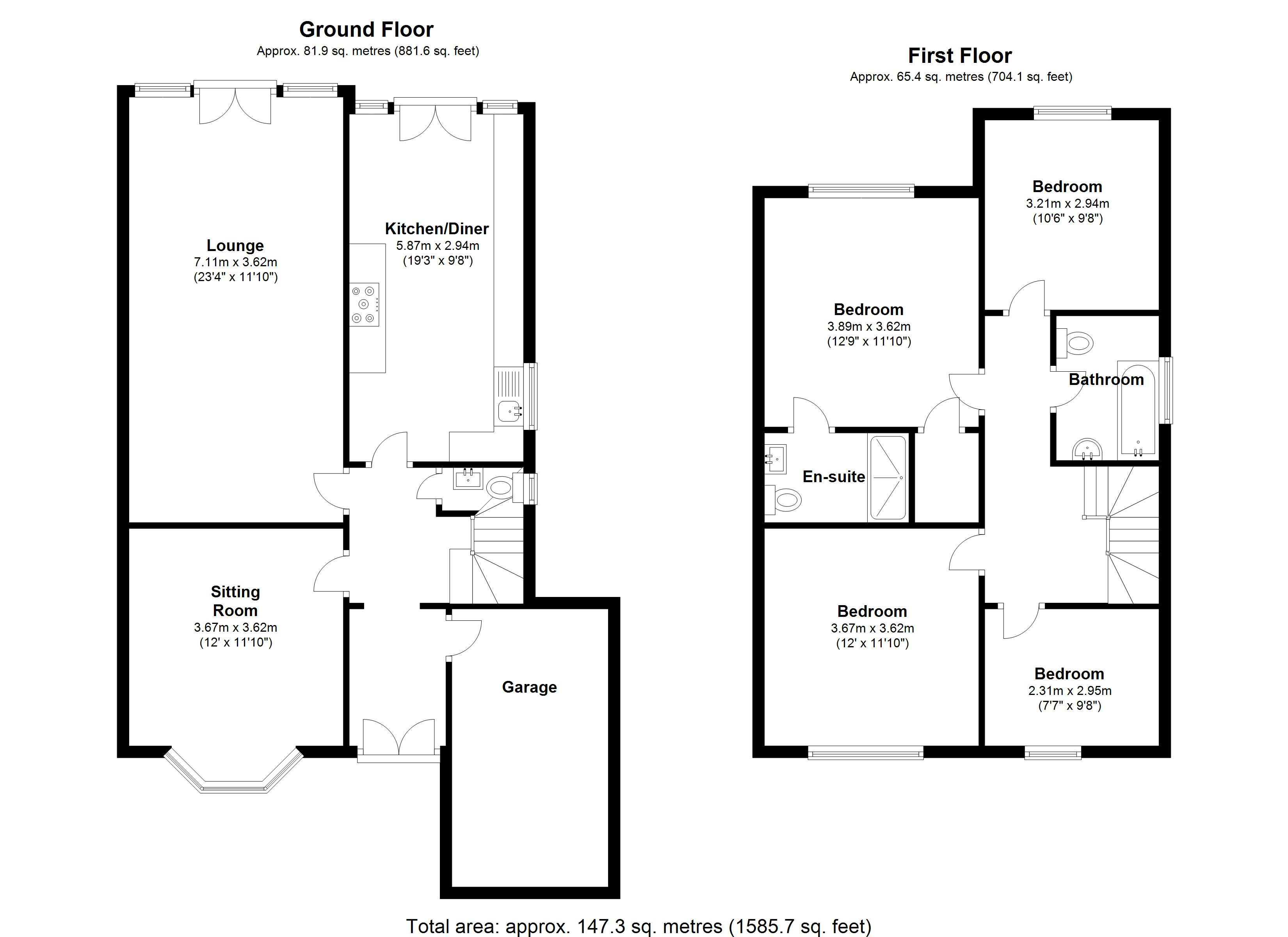 Floorplan for Beechnut Lane, Solihull