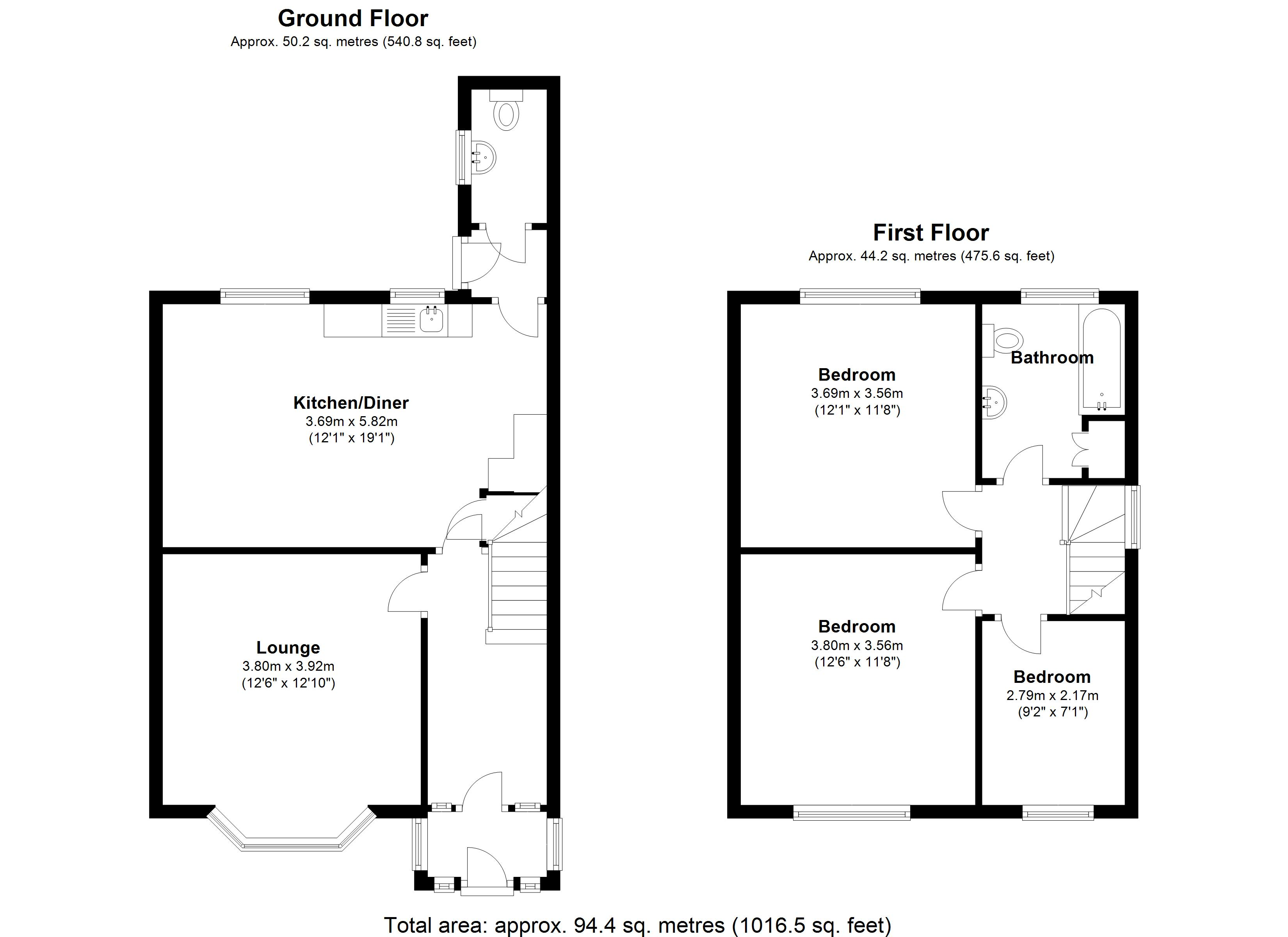 Floorplan for Stratford Road, Solihull
