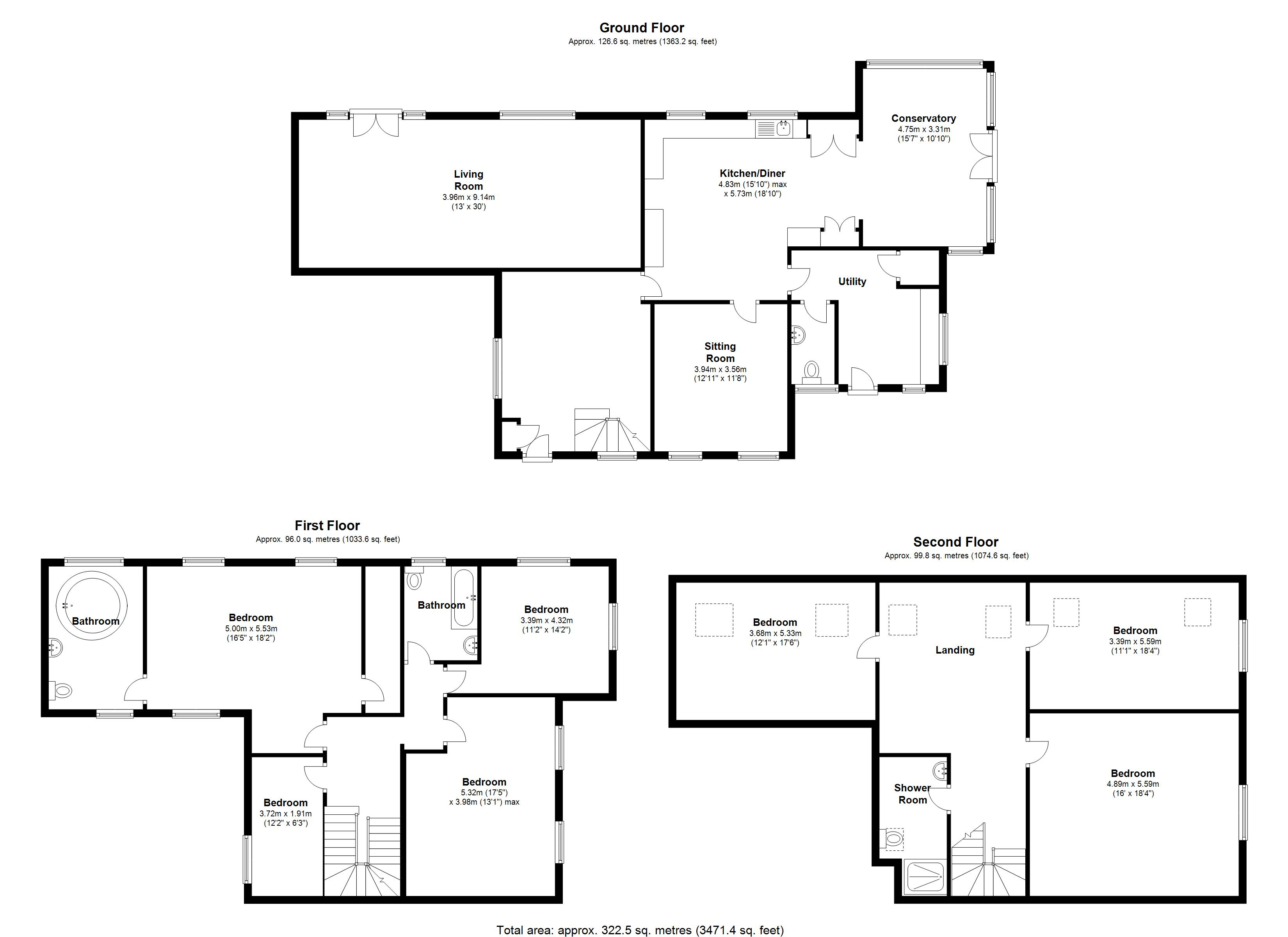 Floorplan for Hospital Lane, Bedworth