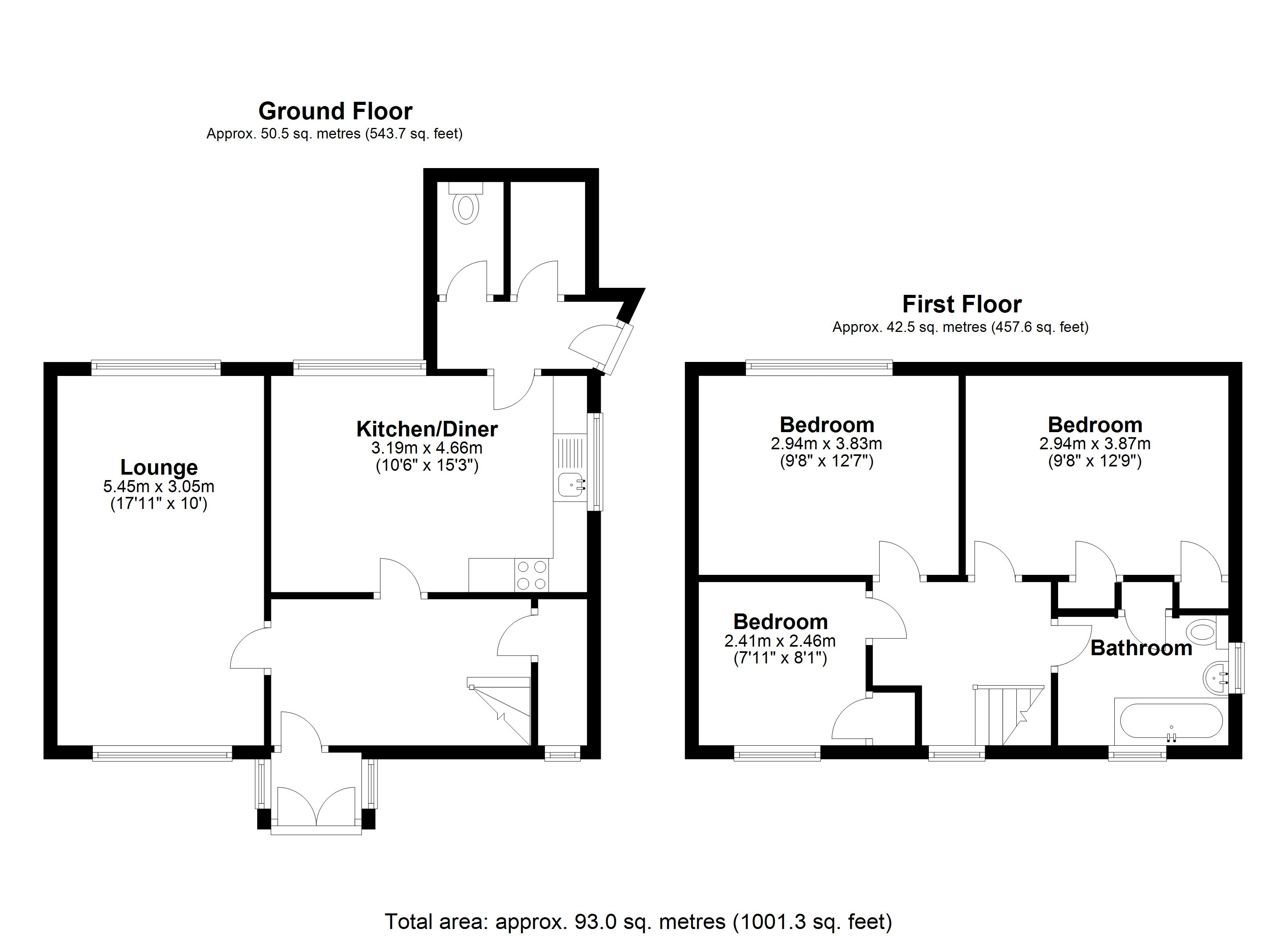 Floorplan for Redlands Close, Solihull