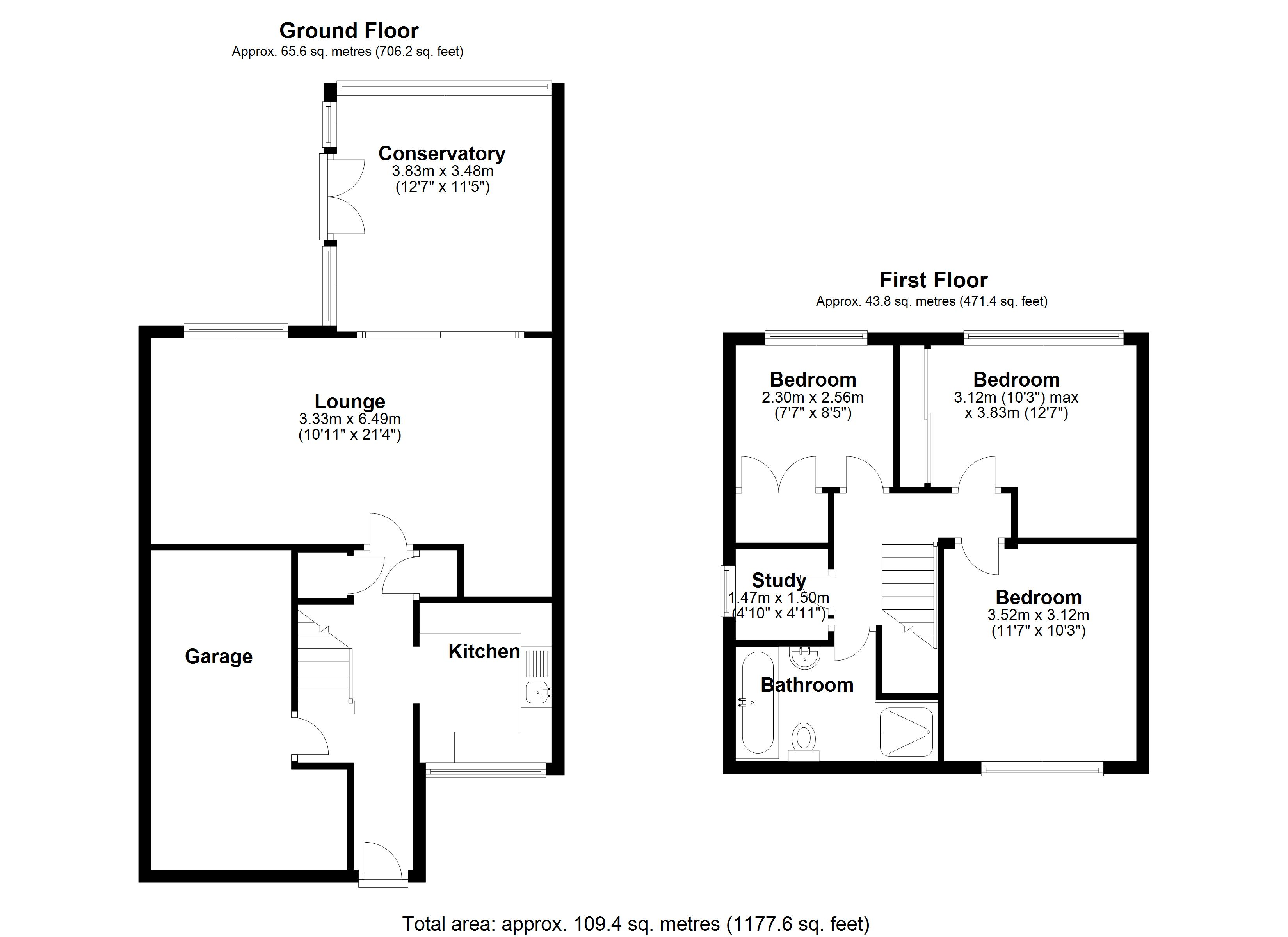 Floorplan for Swanswell Road, Solihull