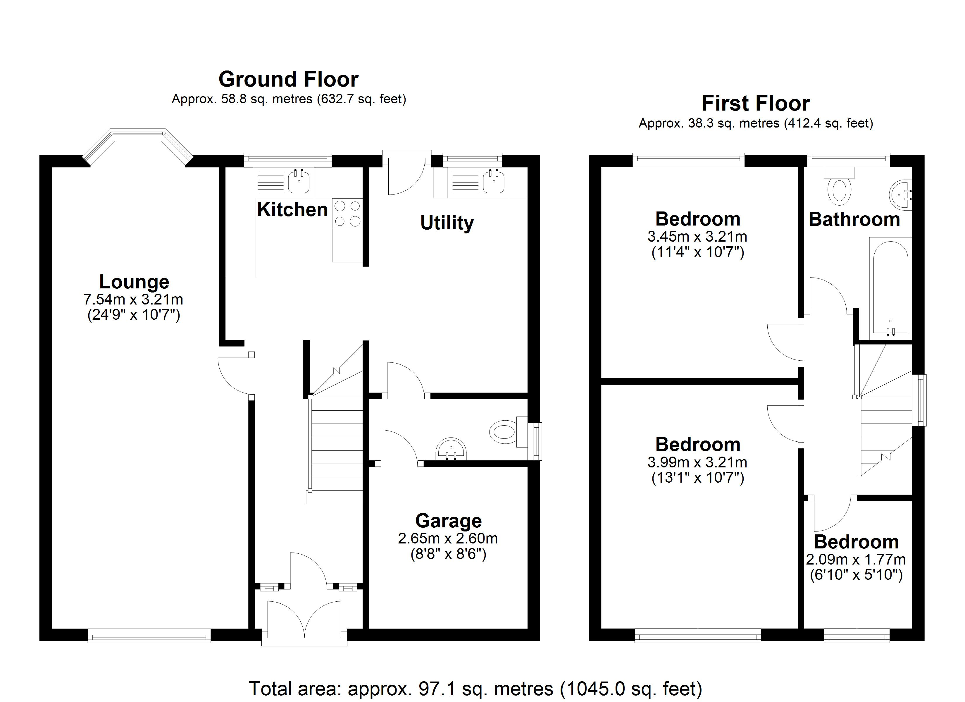 Floorplan for Mayswood Road, Solihull