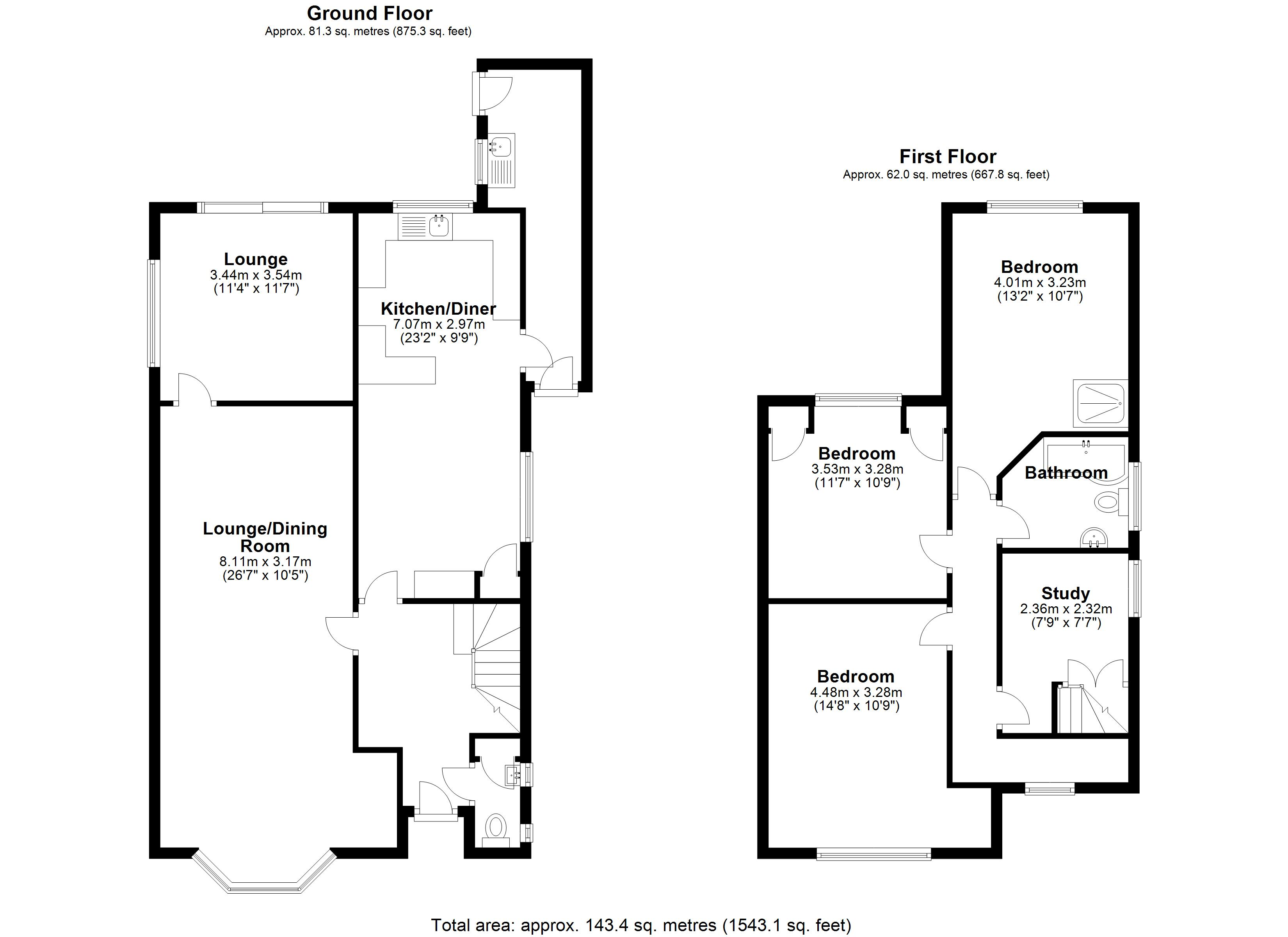 Floorplan for Warwick Road, Solihull