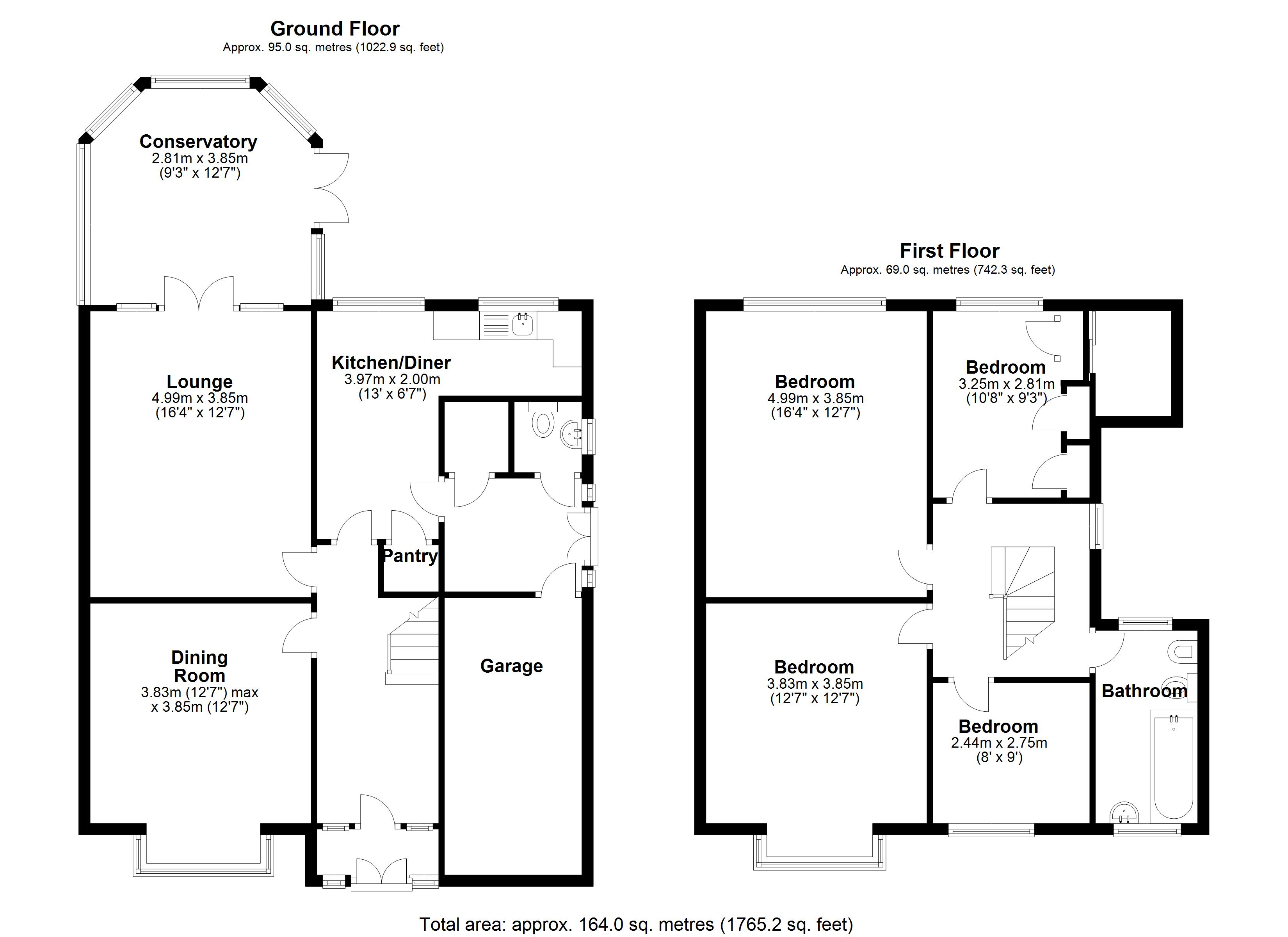 Floorplan for Manor Road, Solihull