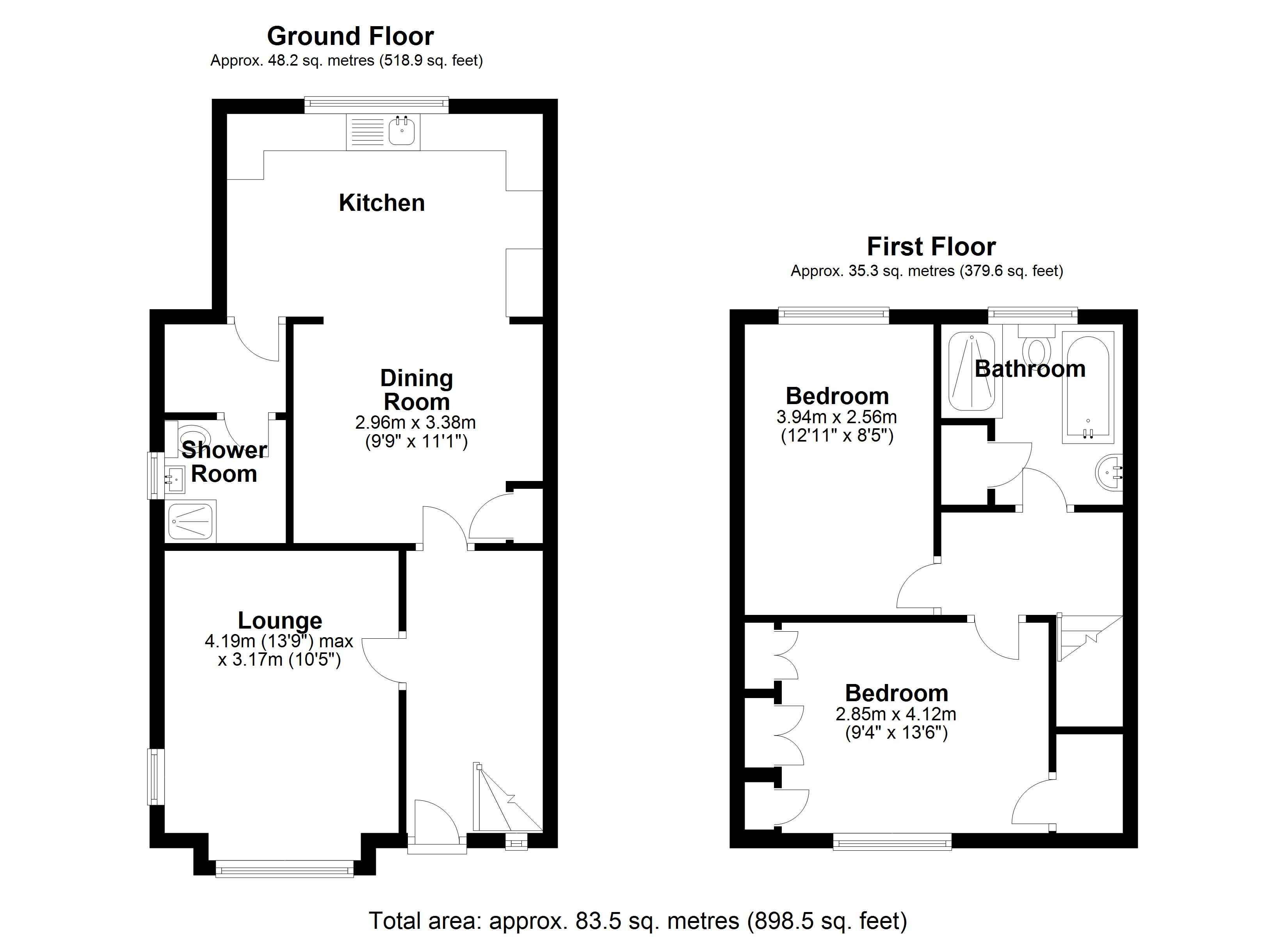 Floorplan for Redlands Road, Solihull