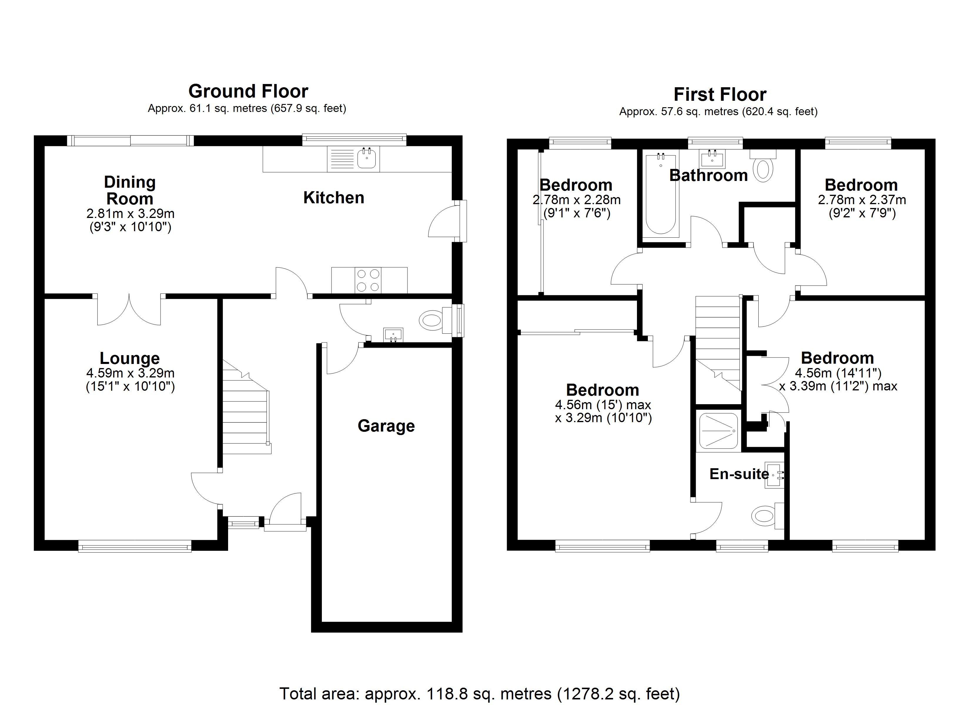 Floorplan for Ashbrook Crescent, Solihull