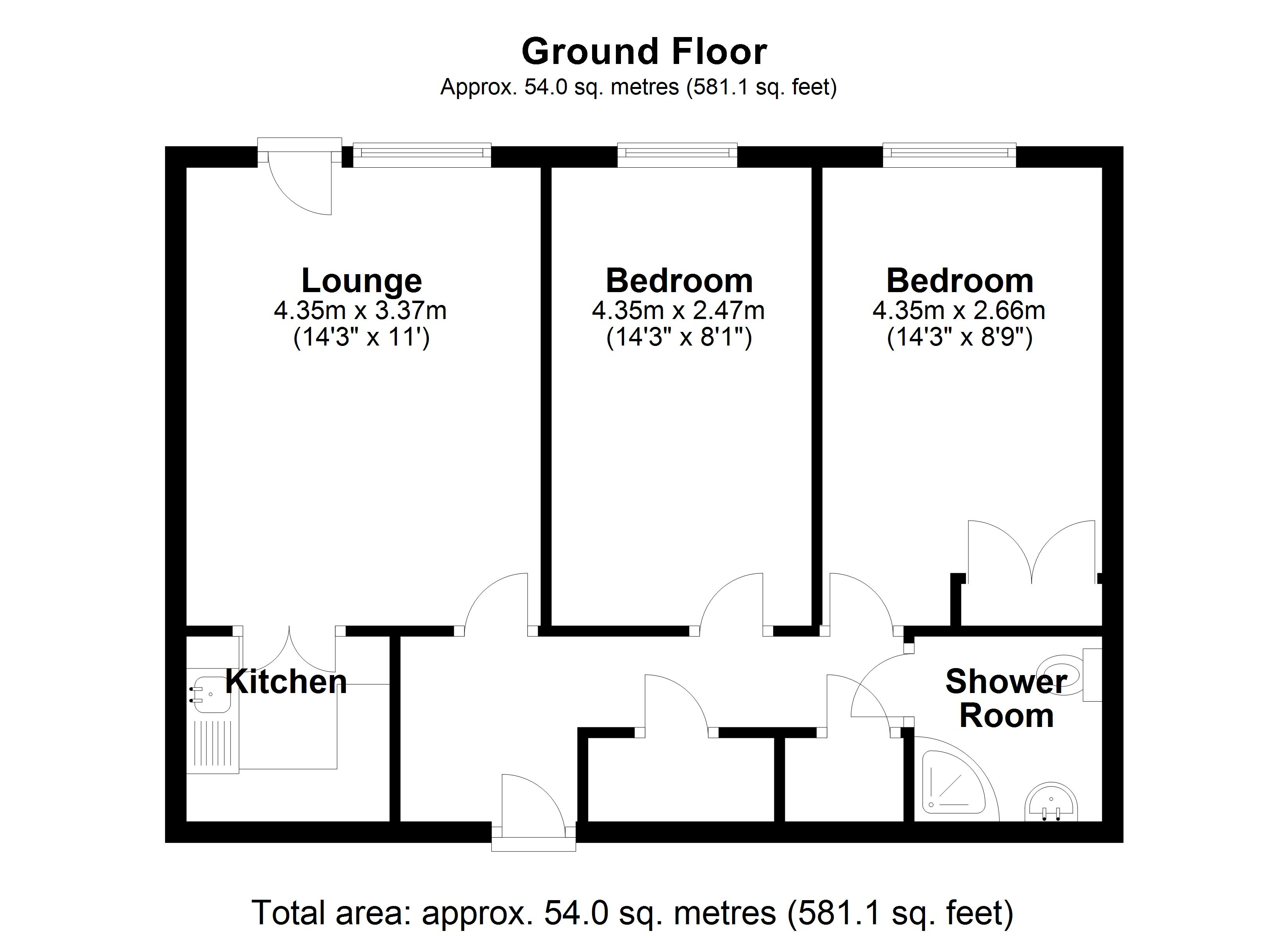 Floorplan for Blythe Court, Solihull