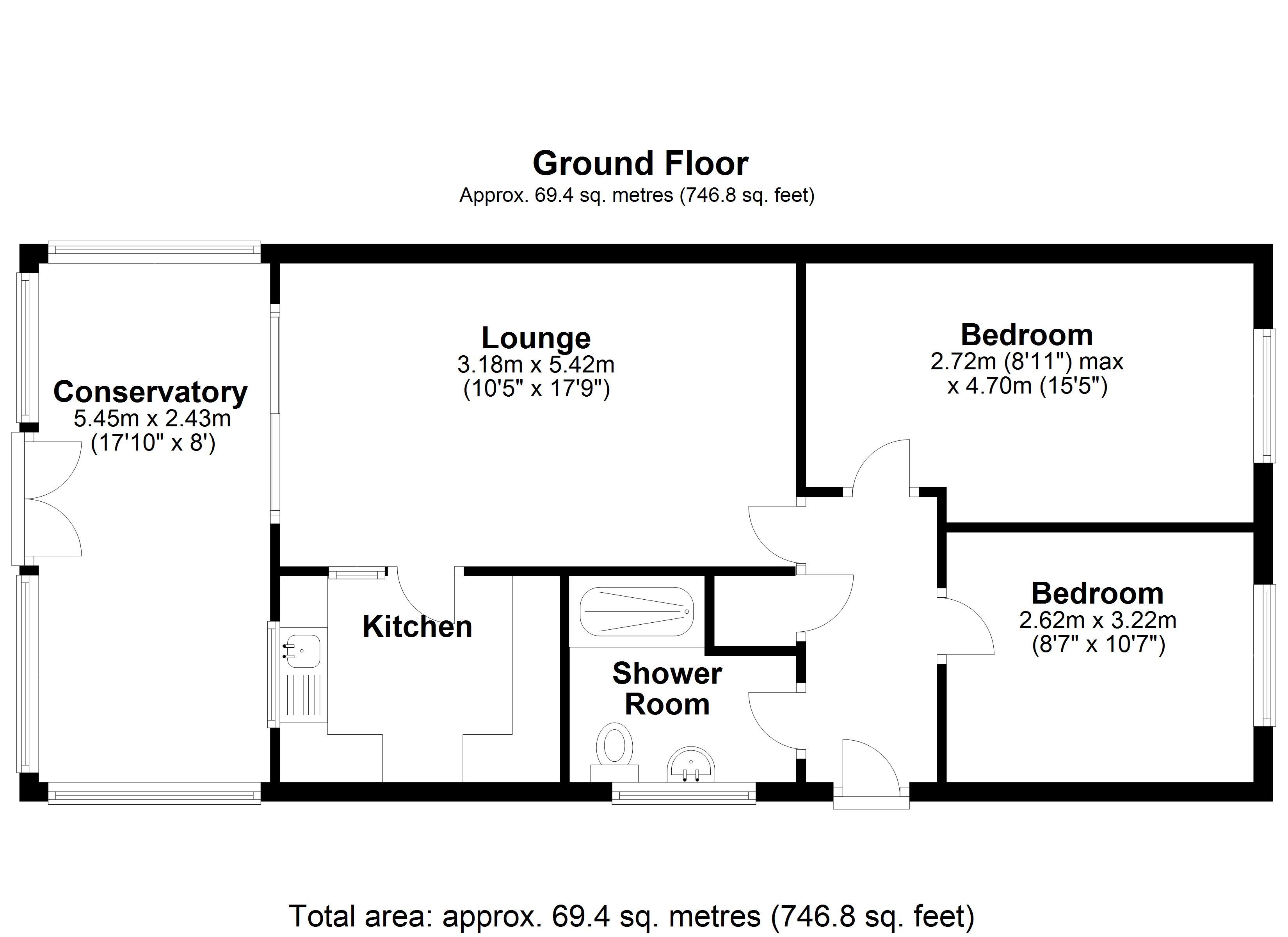 Floorplan for Dovecote Close, Solihull