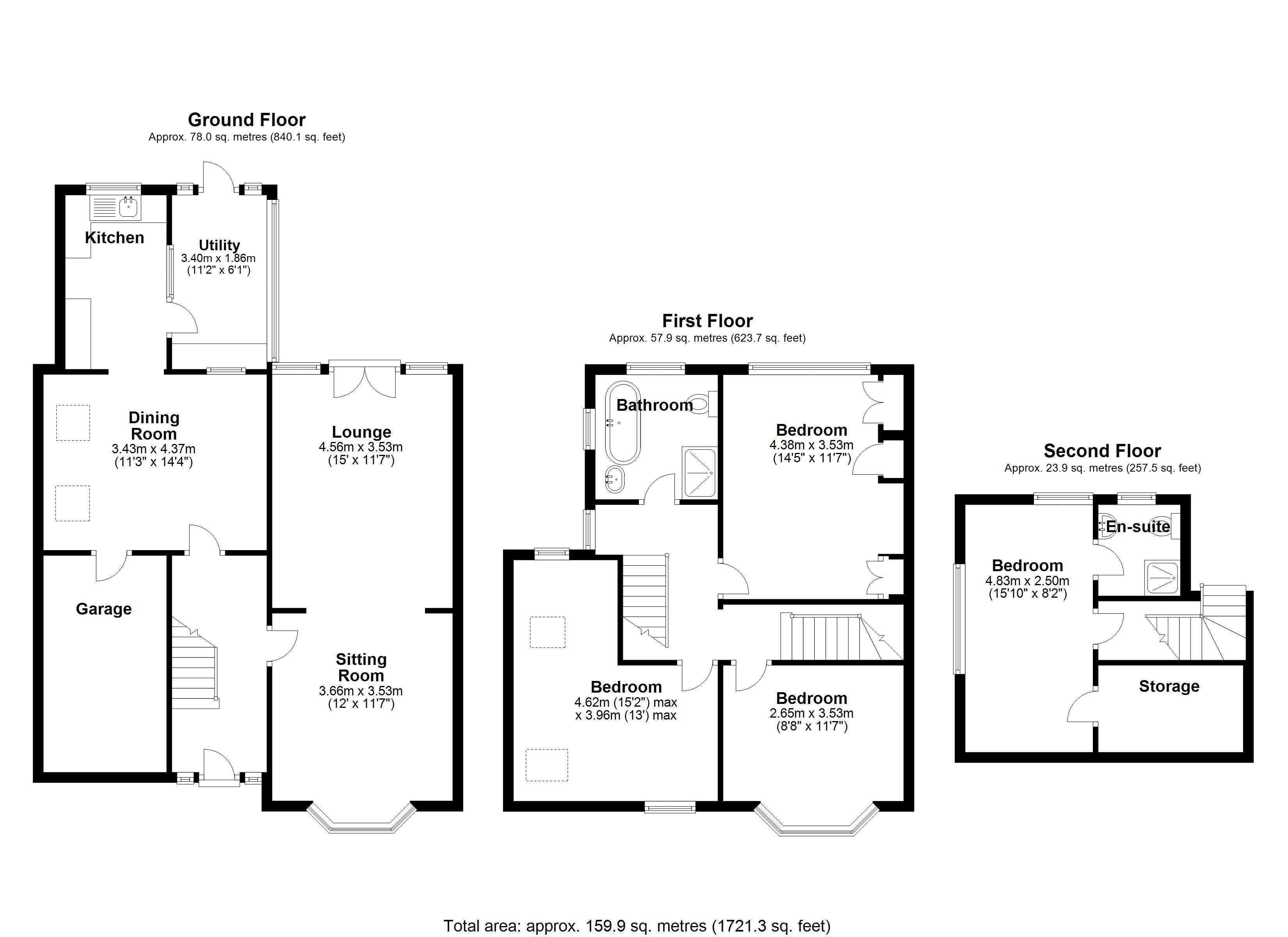 Floorplan for Bradbury Road, Solihull
