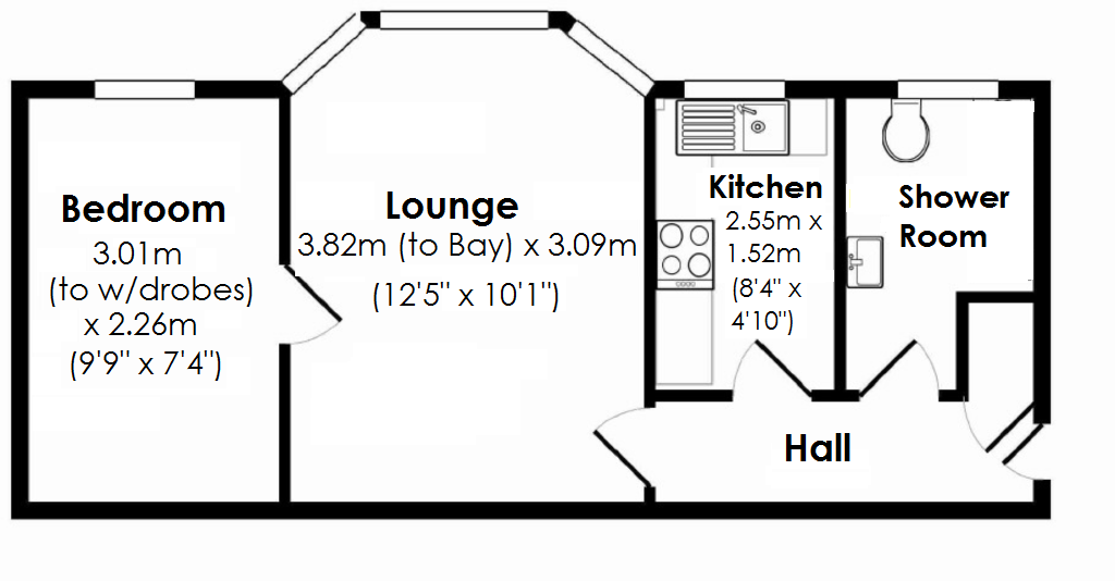 Floorplan for Dingle Court, Solihull