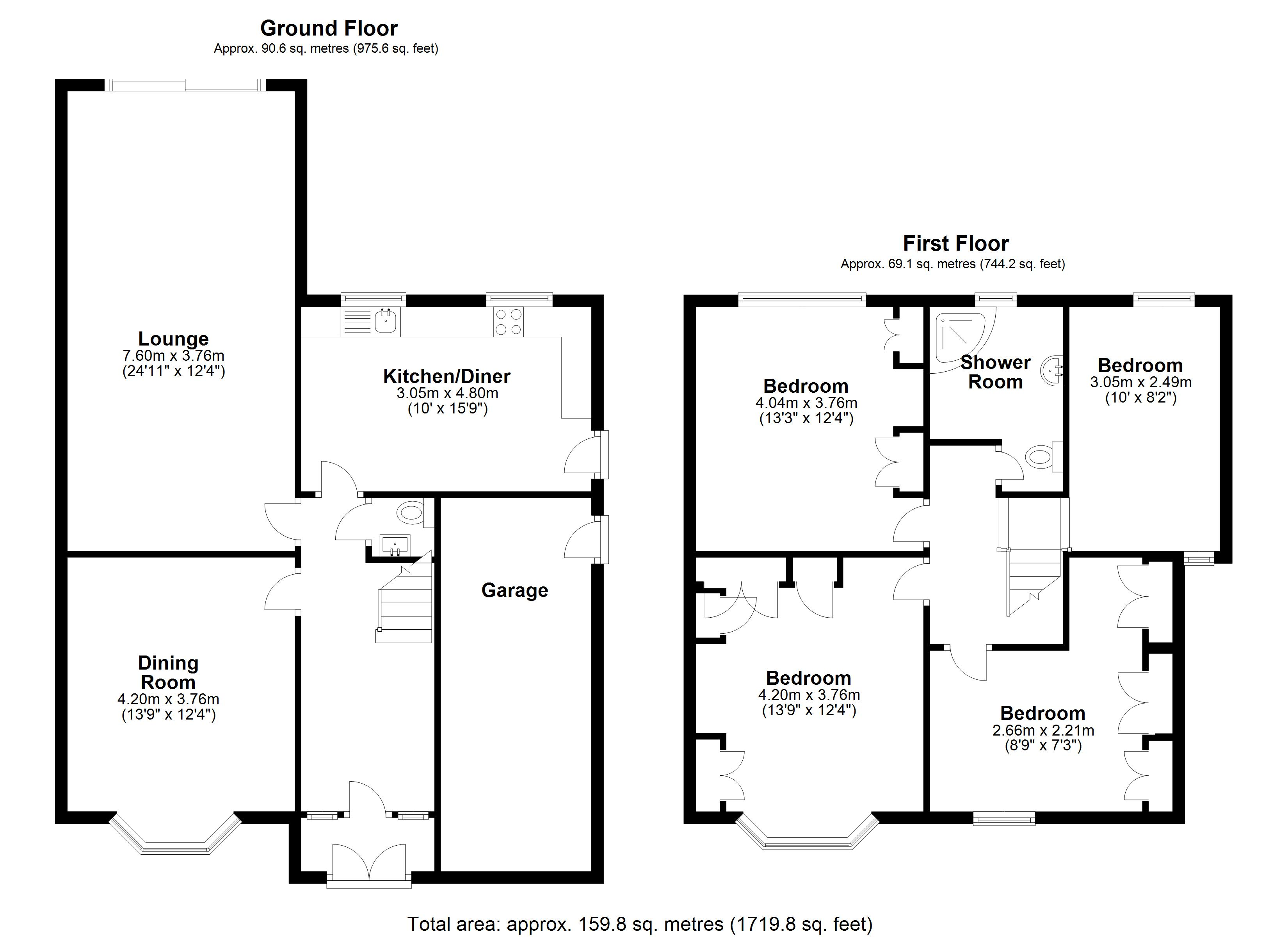 Floorplan for Buryfield Road, Solihull