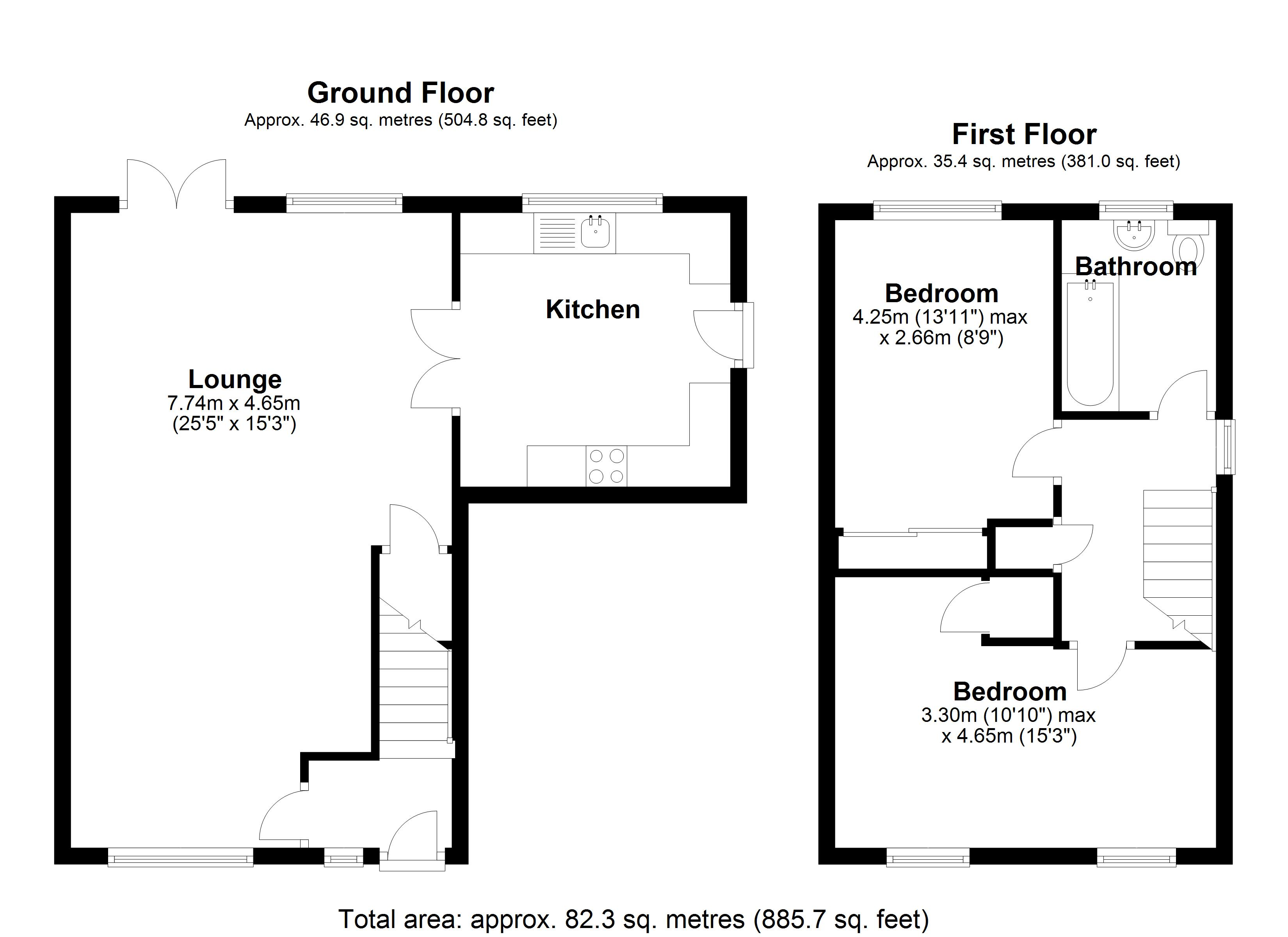 Floorplan for Sandbarn Close, Solihull