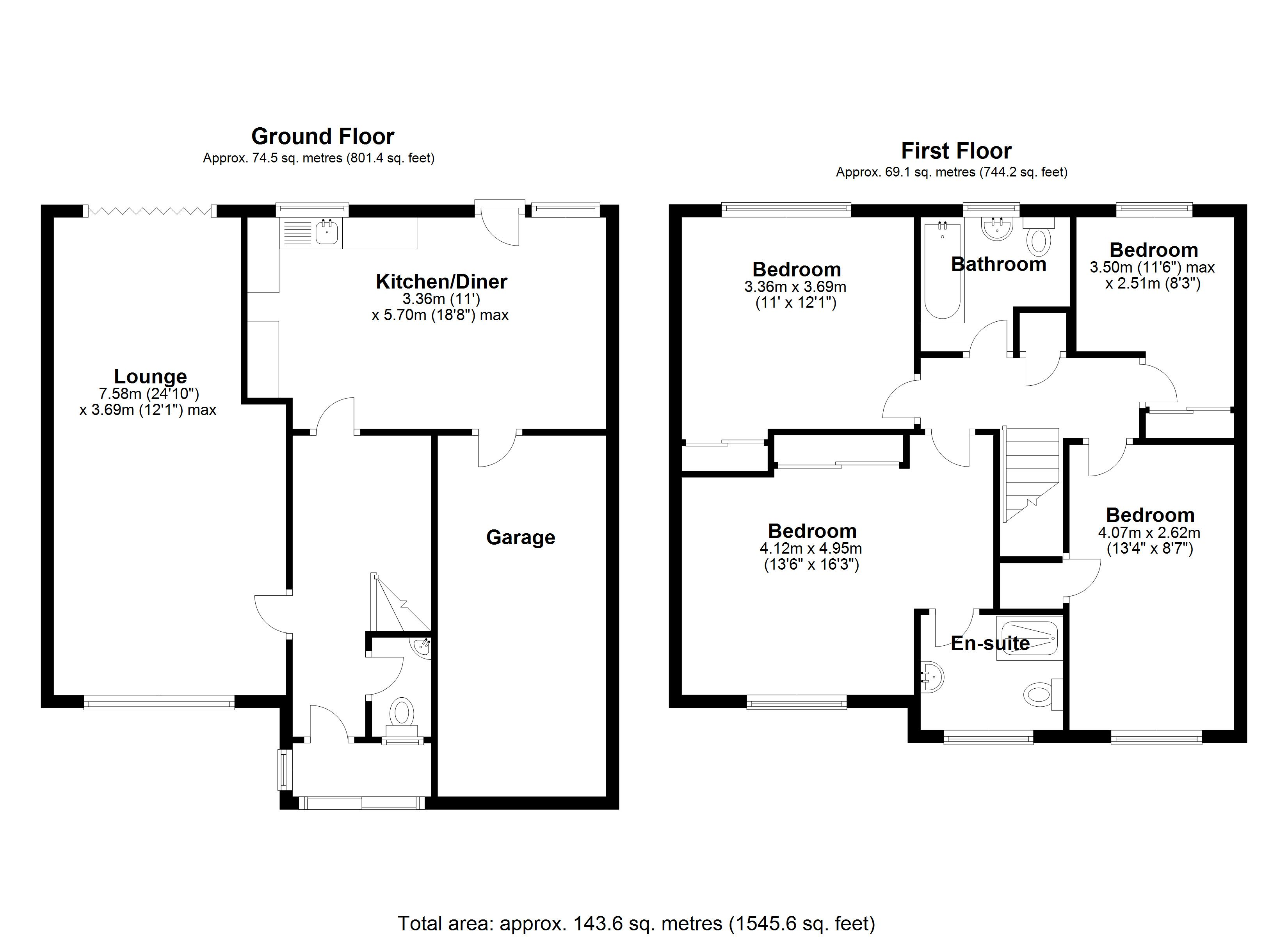 Floorplan for Barnfield Drive, Solihull