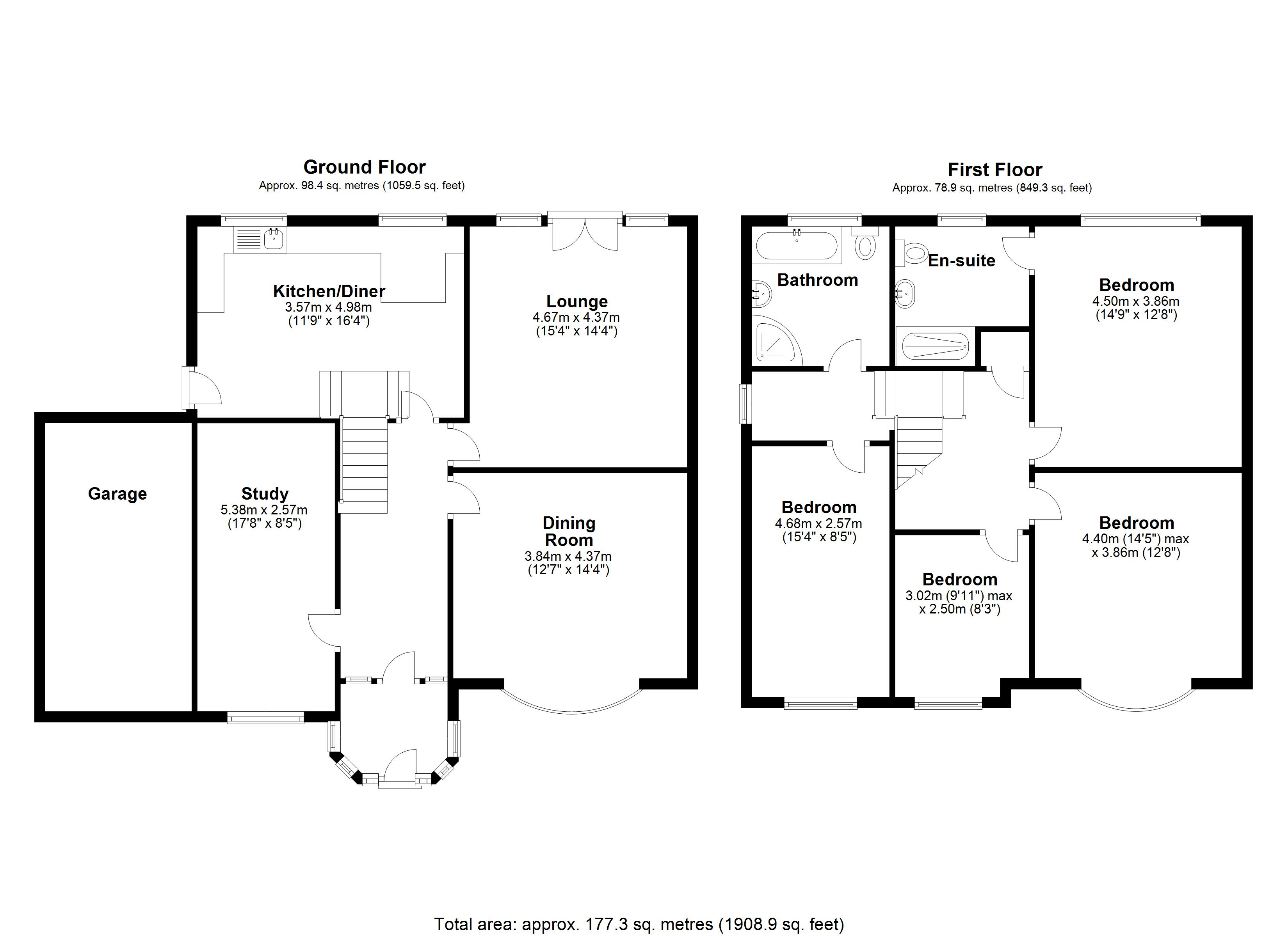 Floorplan for Stoneleigh Road, Solihull