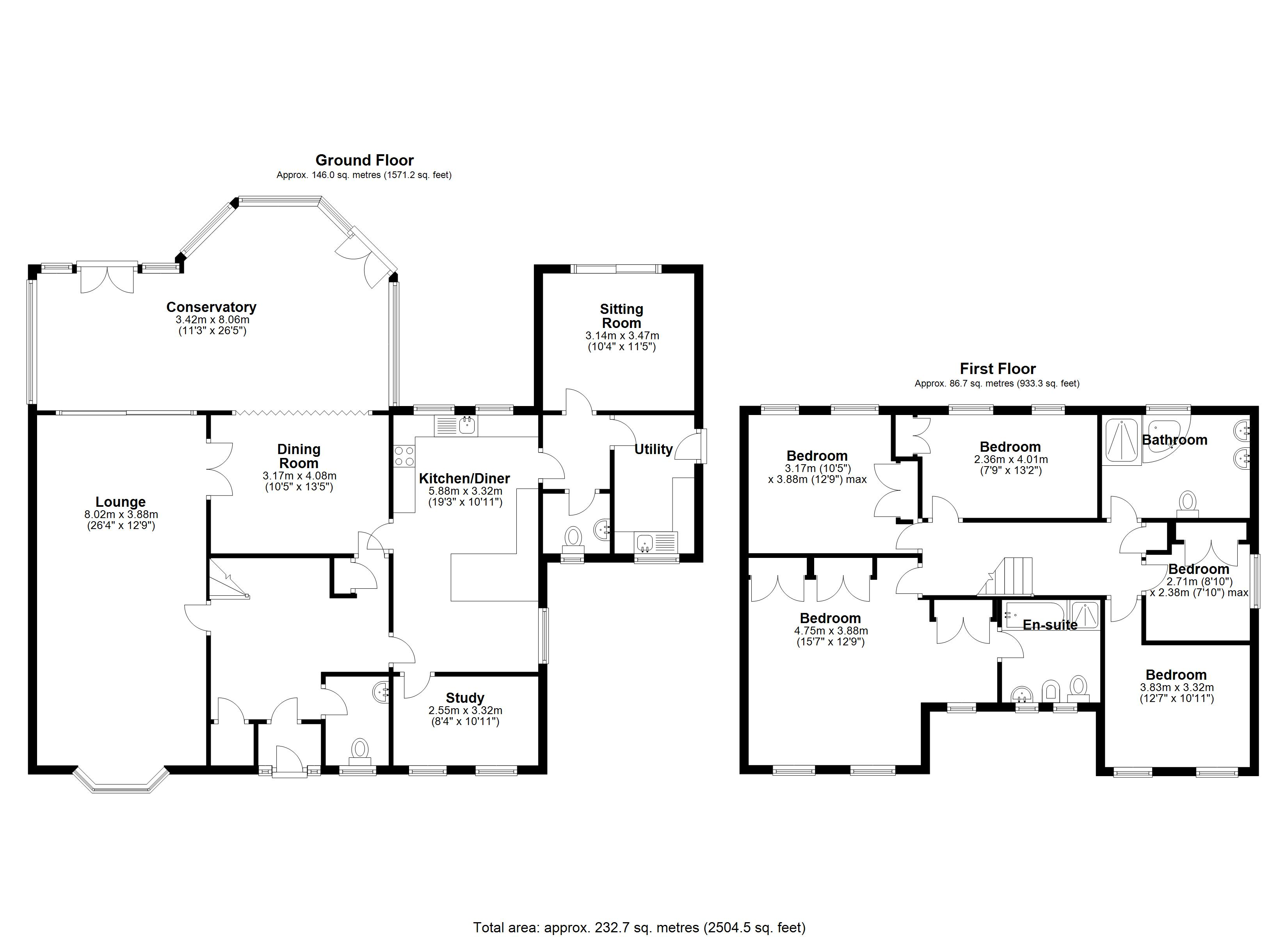 Floorplan for Whitefields Road, Solihull
