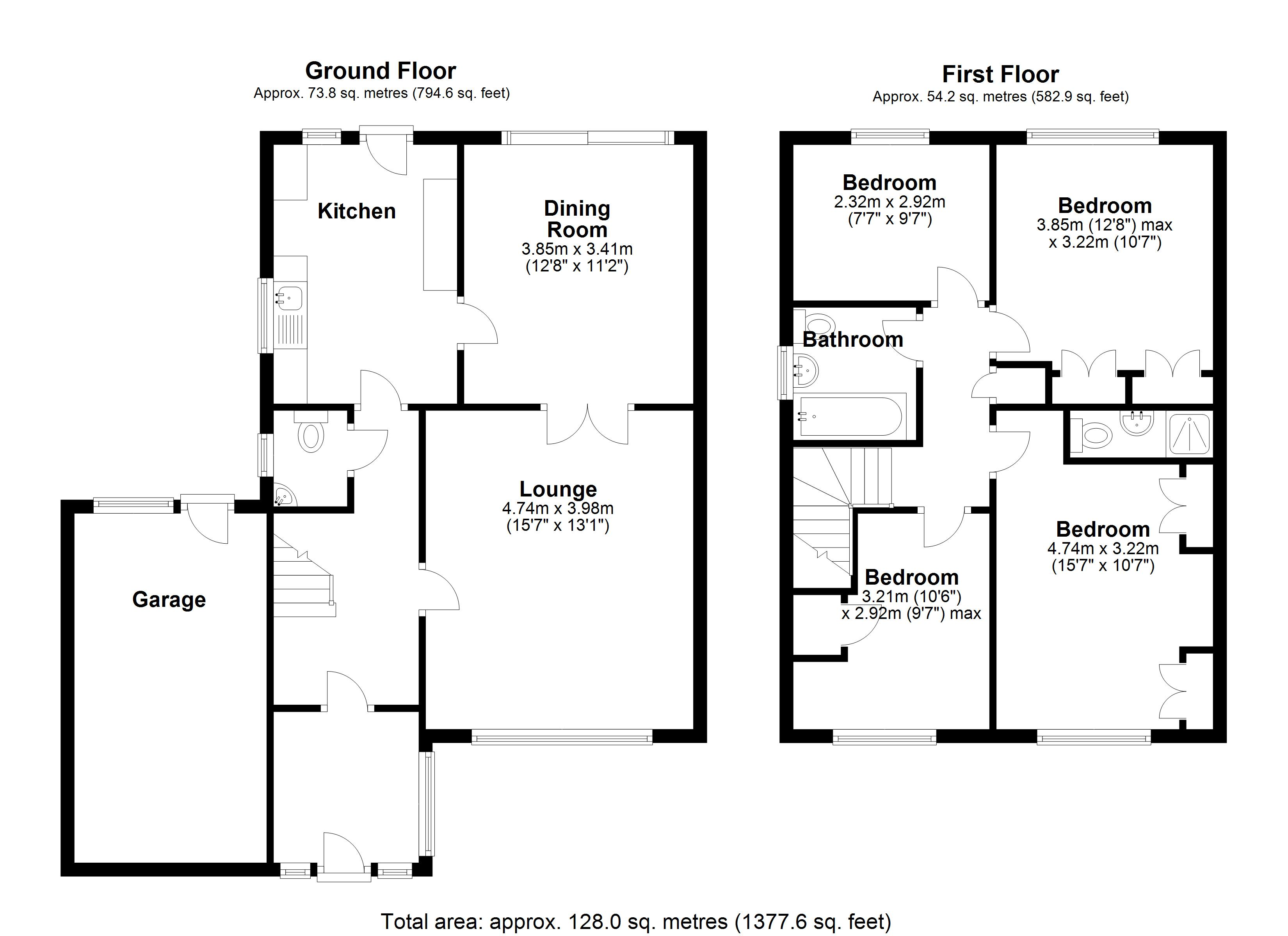 Floorplan for Shilton Close, Solihull
