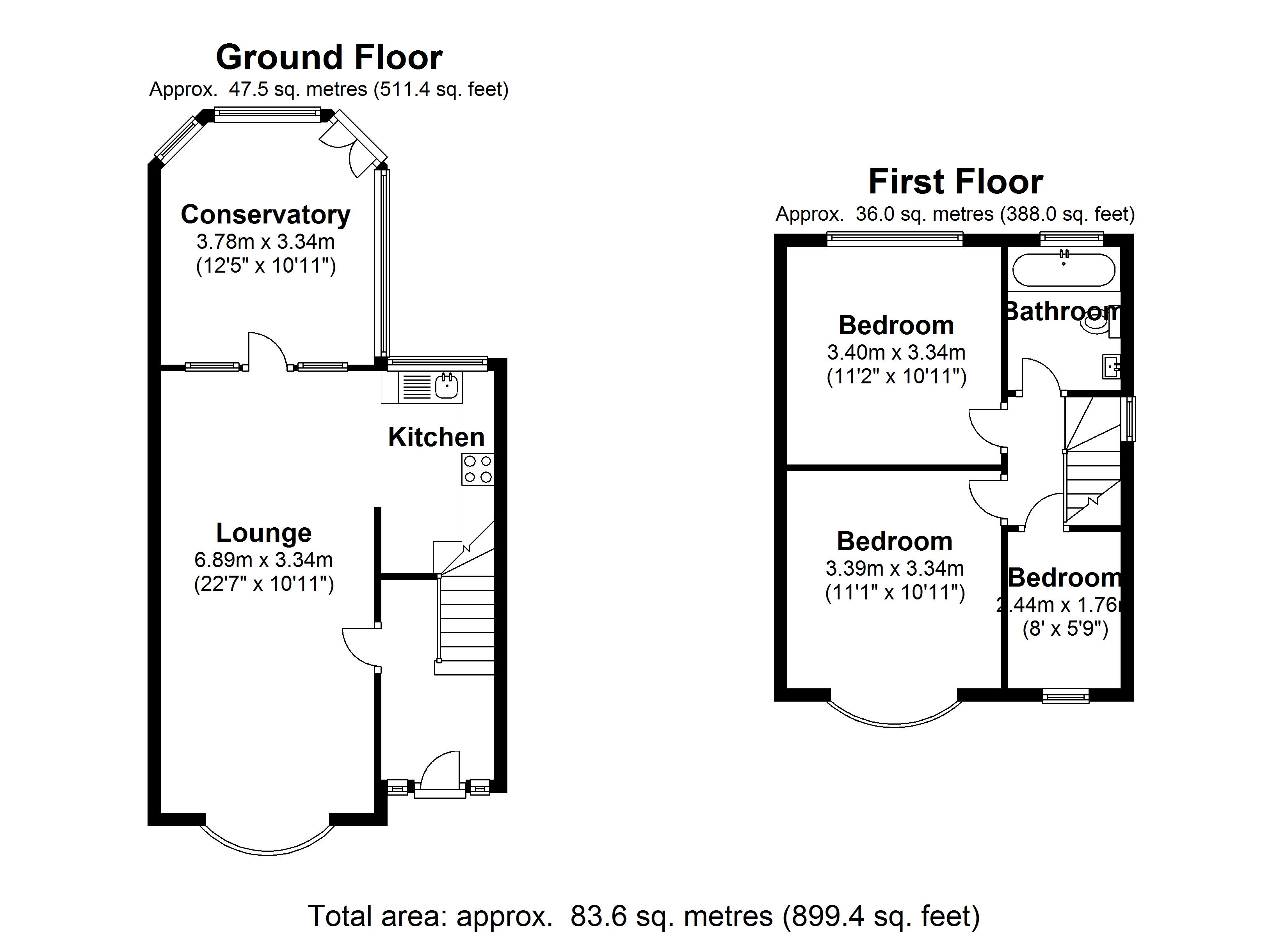 Floorplan for Shalford Road, Solihull